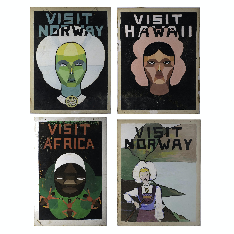 Original 1950s Travel Illustrations