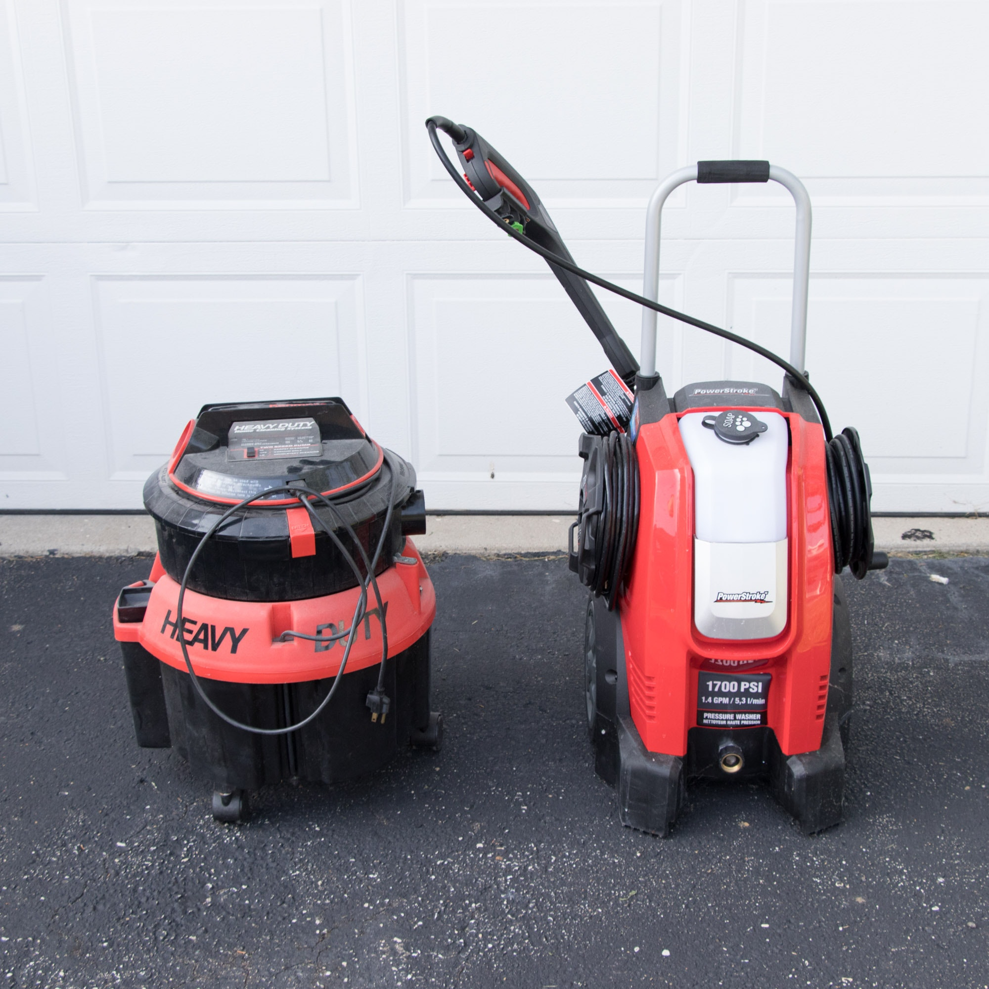 PowerStroke 1700 PSI Pressure Washer and Kenmore Power Spray Carpet Cleaner
