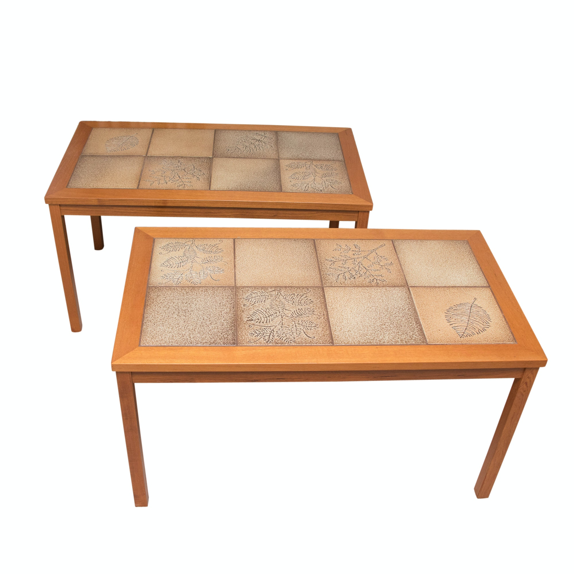 Wooden and Tile Accent Tables
