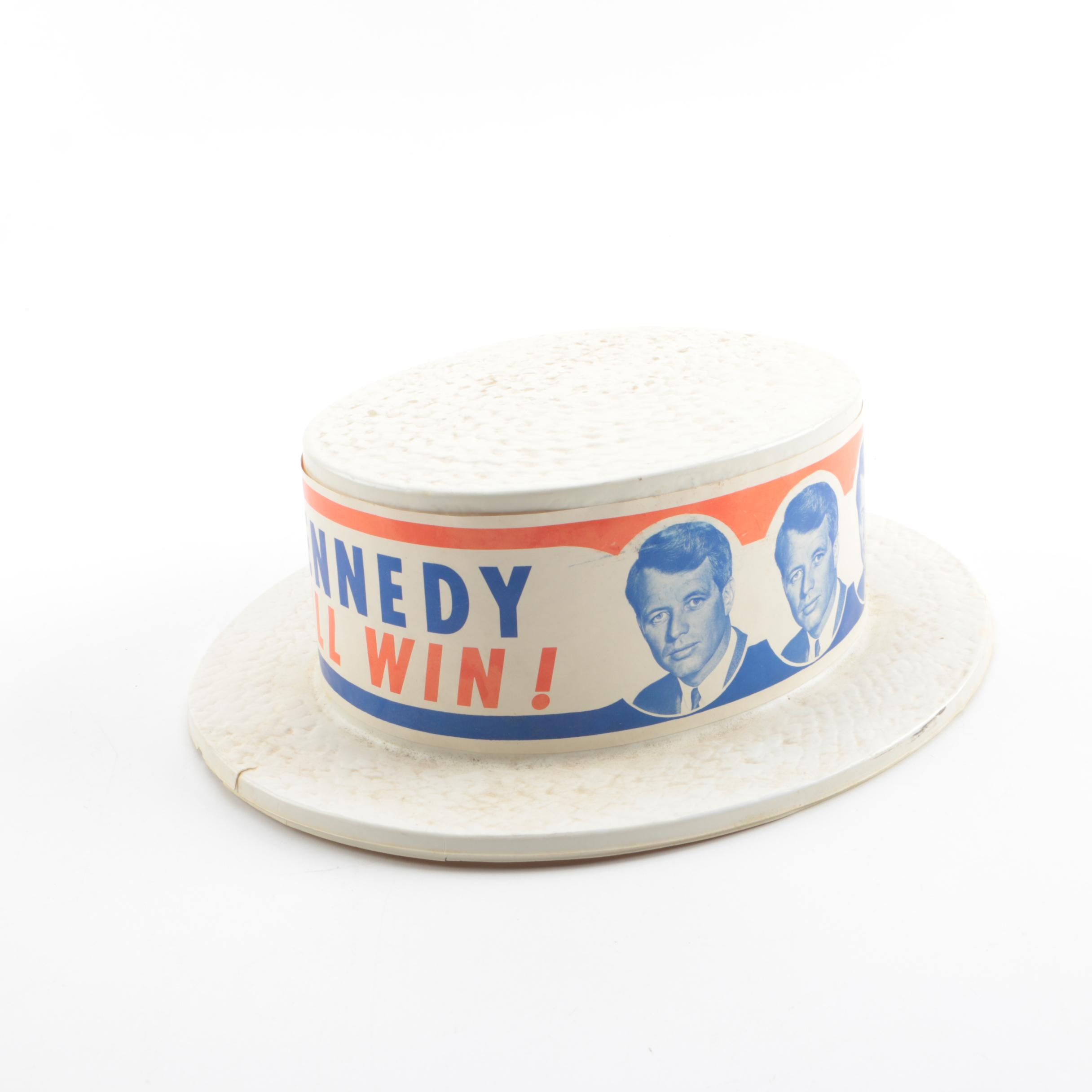 """1968 """"Kennedy Will Win!"""" Robert Kennedy Presidential Campaign Promotional Hat"""