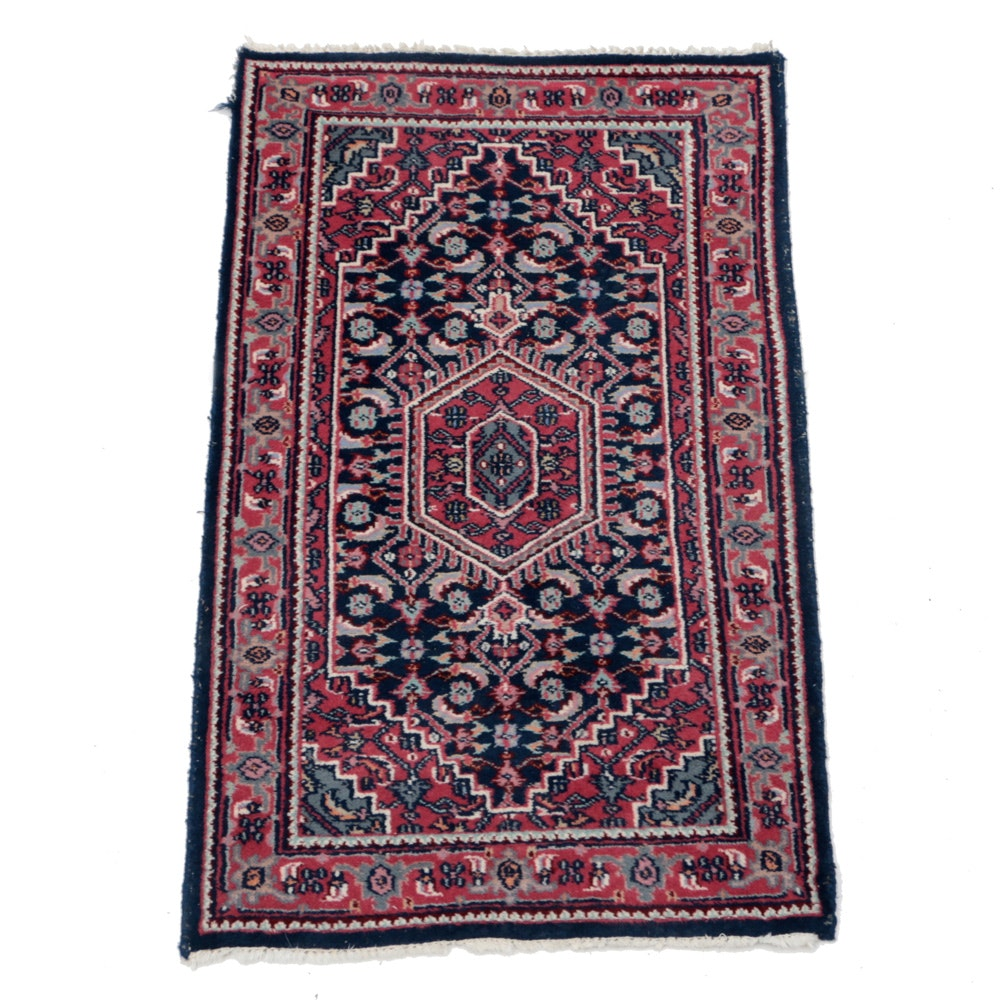 Hand-Knotted Indo-Persian Bijar Area Rug