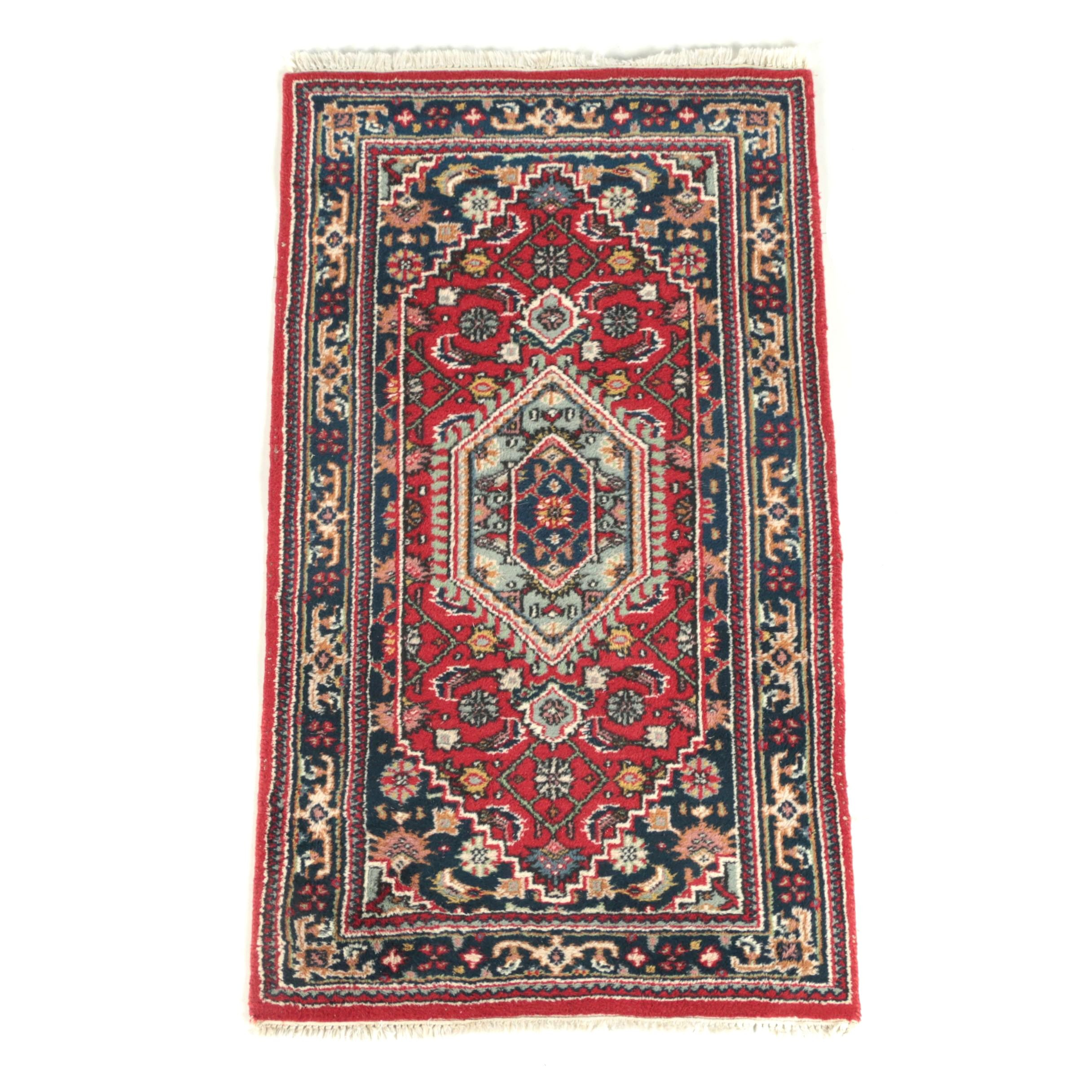 Hand-Knotted Indo-Persian Bijar Wool Accent Rug
