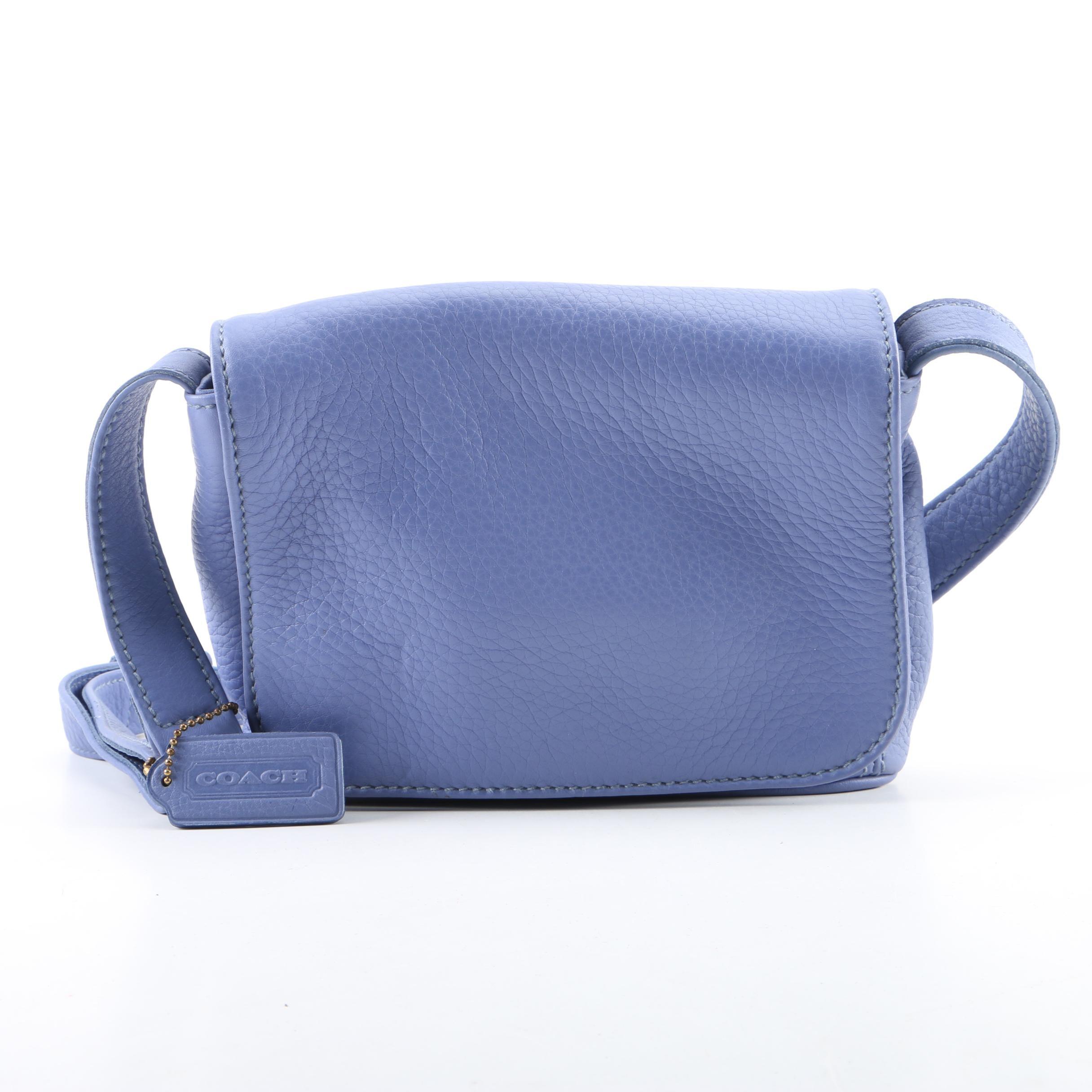 1997 Coach Sonoma Periwinkle Pebbled Leather Shoulder Bag
