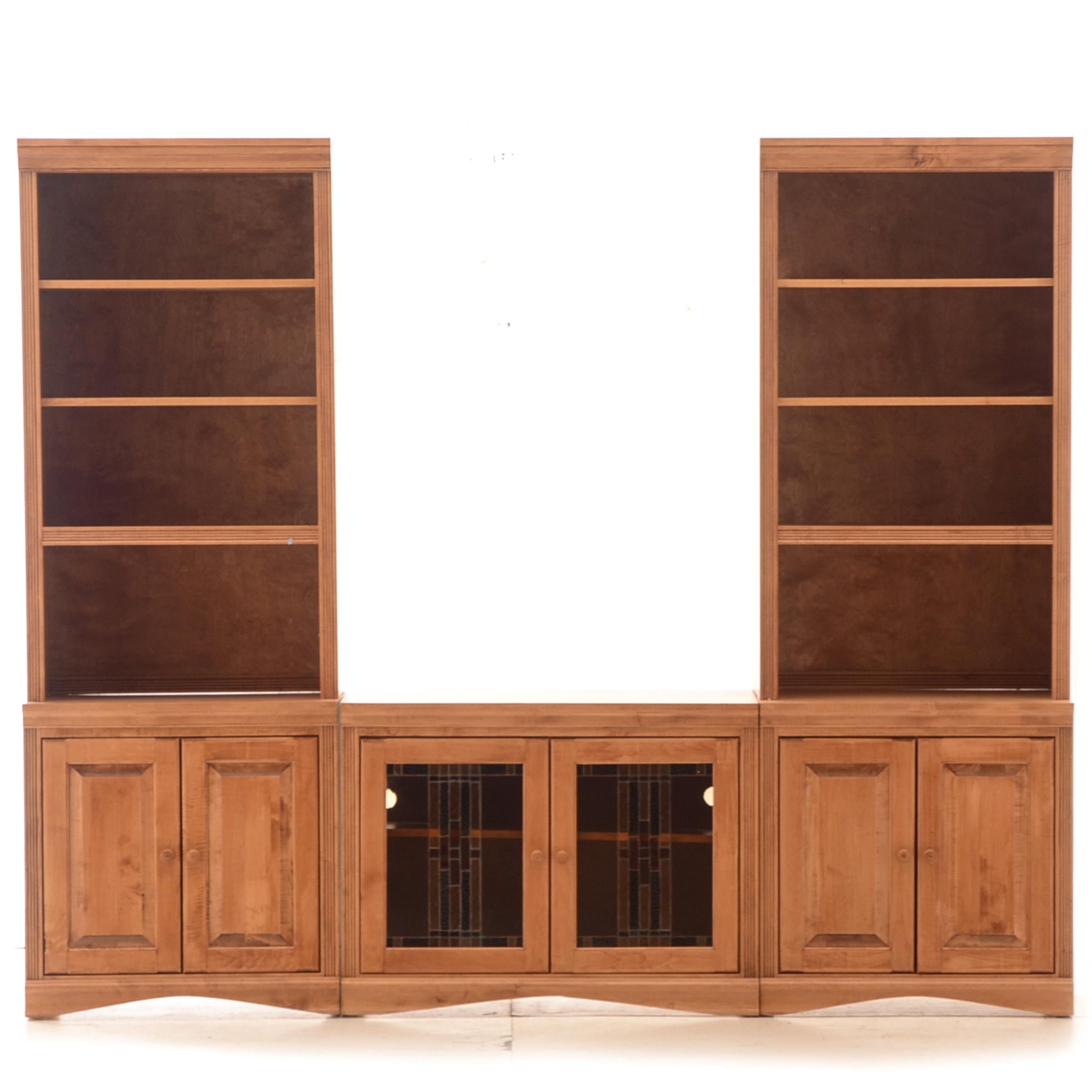 Maple Veneer Entertainment Cabinet Unit