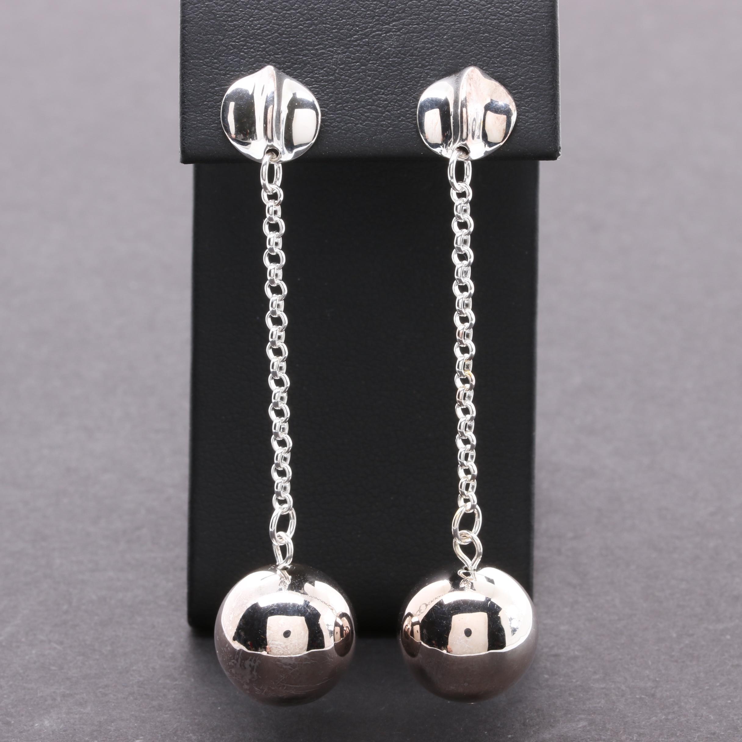 RLM Studios Sterling Silver Dangling Sphere Earrings