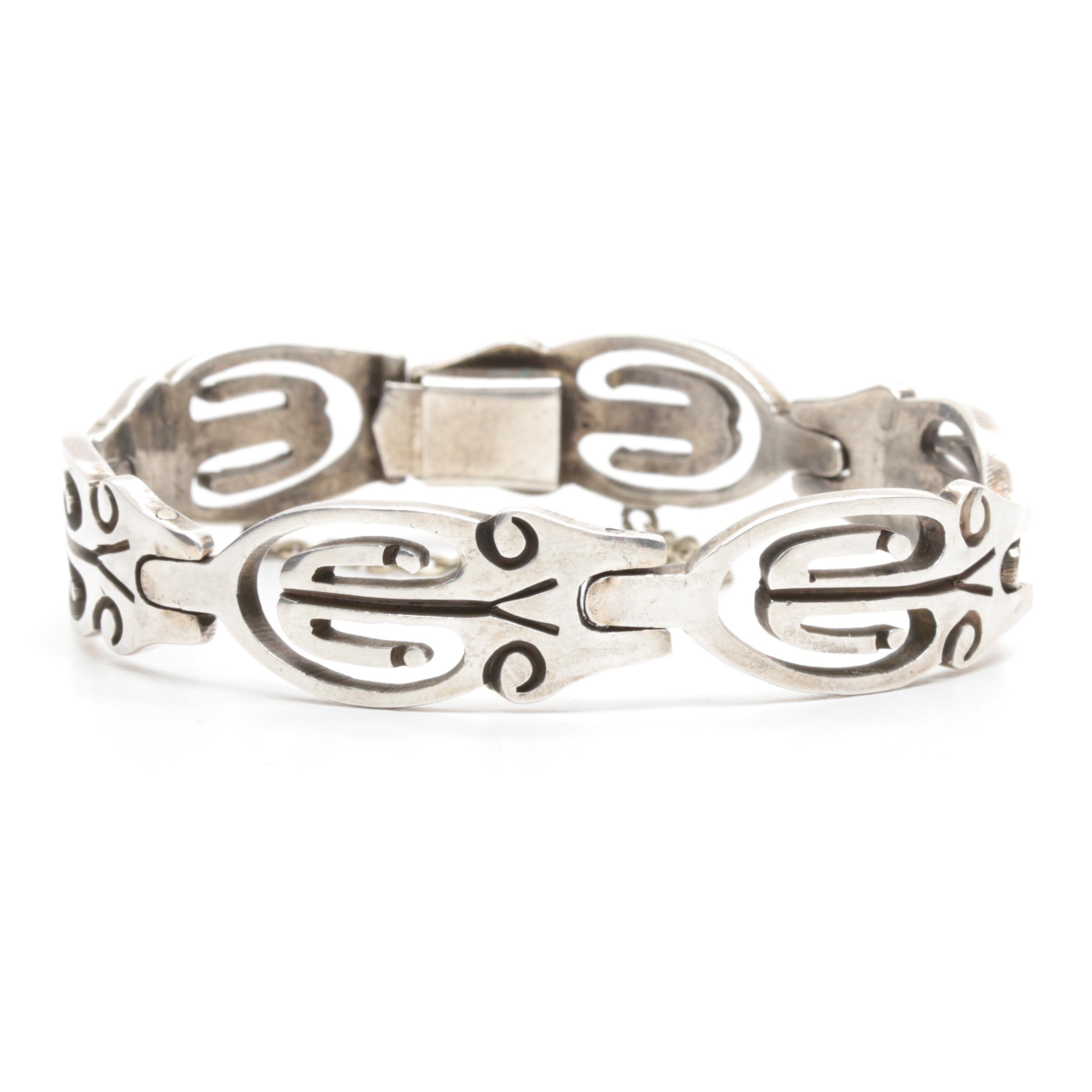 Taxco Sterling Silver Openwork Bracelet