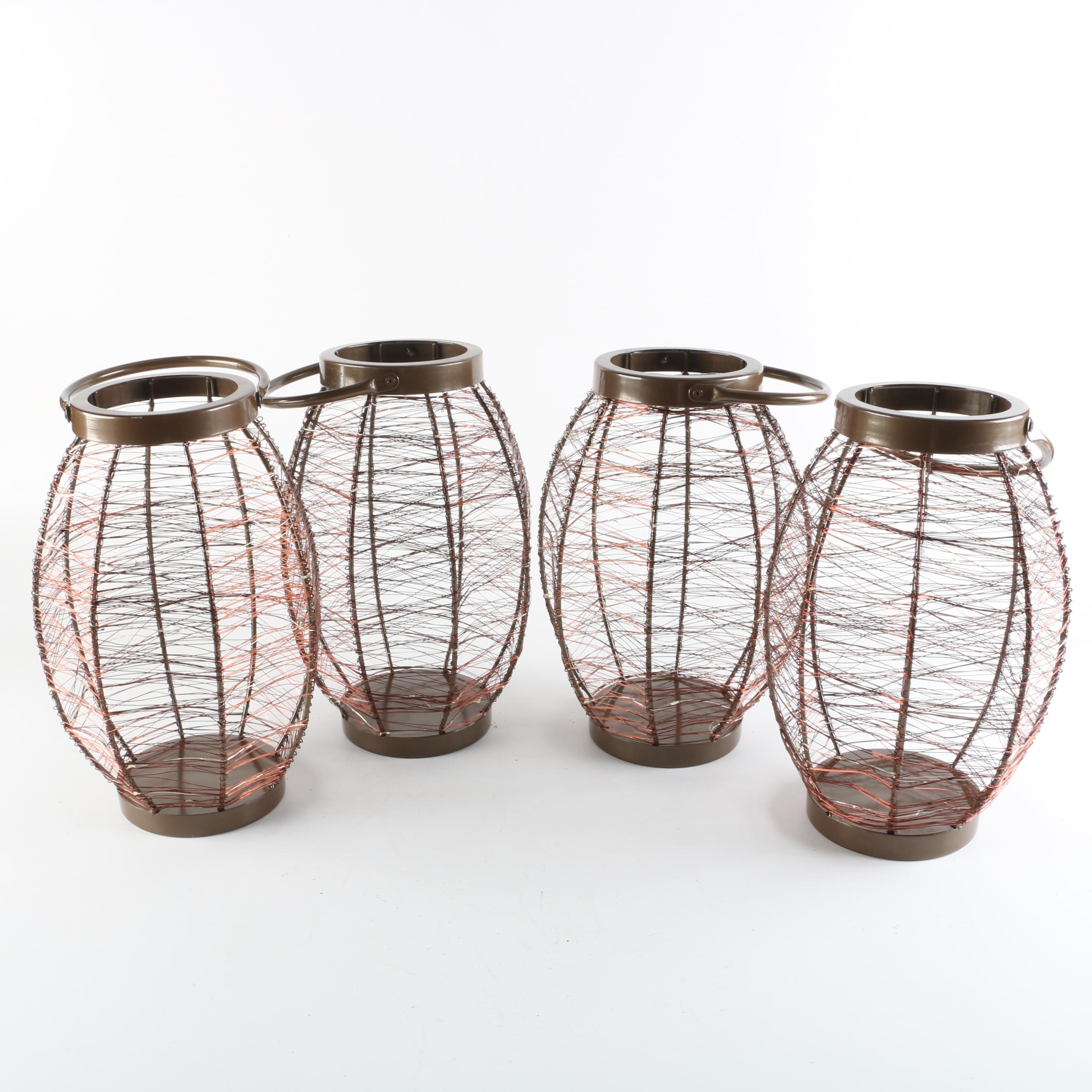 Metal Wire and LED Light Wrapped Lanterns