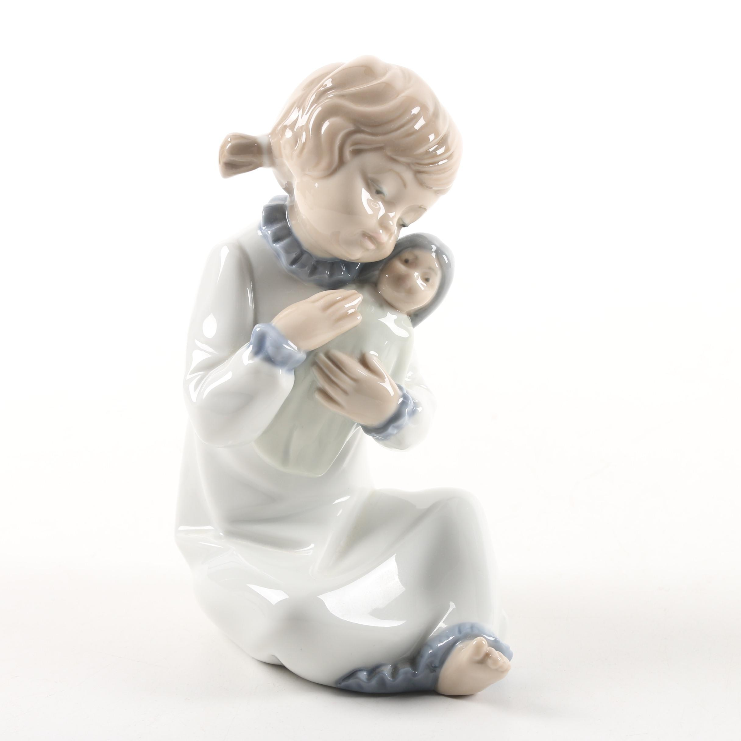 """Nao by Lladró """"Girl with Doll"""" Porcelain Figurine"""