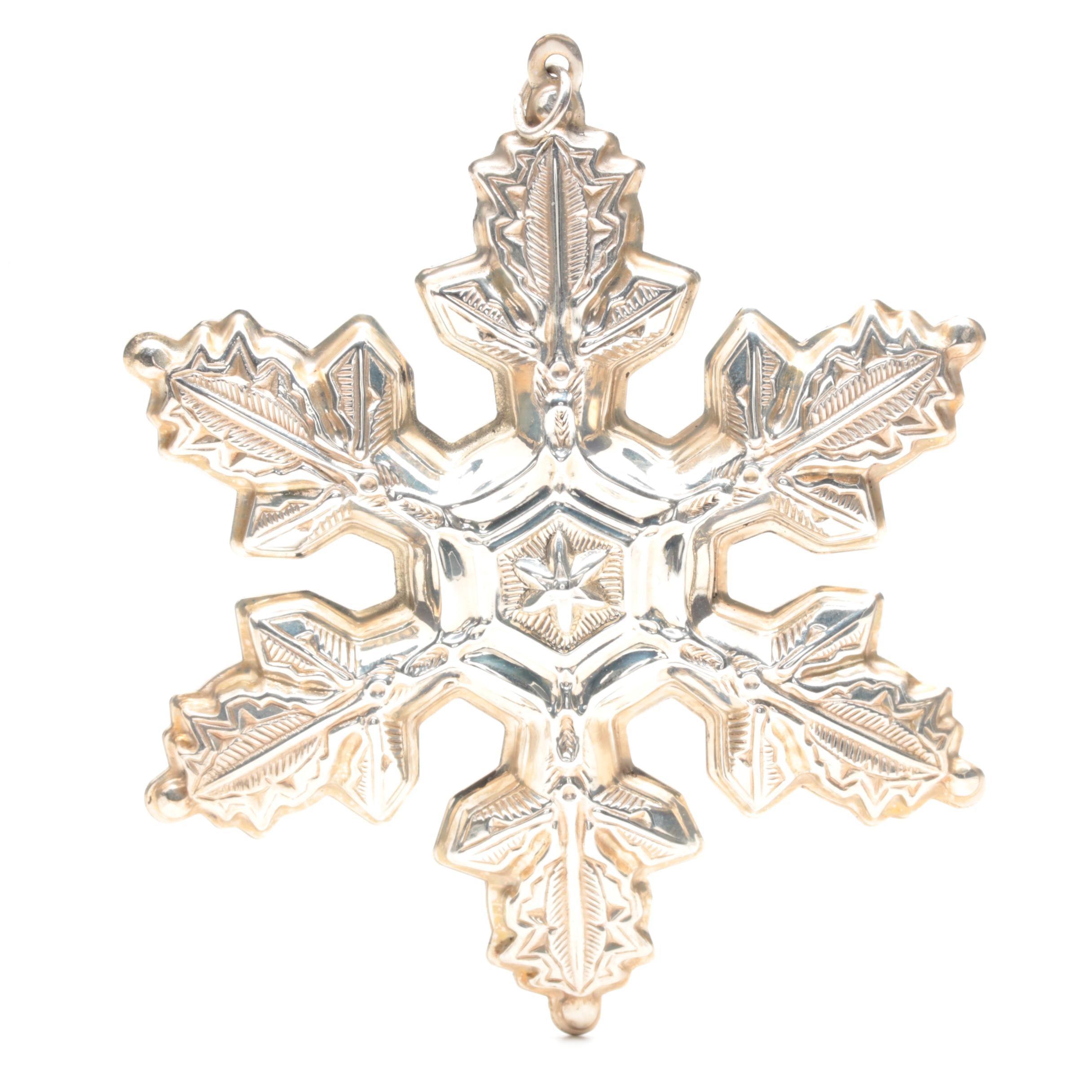 1997 Gorham Sterling Silver Snowflake Ornament