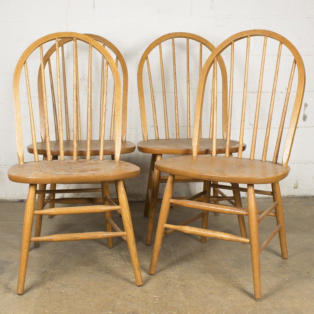 Vintage Windsor Oak Side Chairs by Union City Chair
