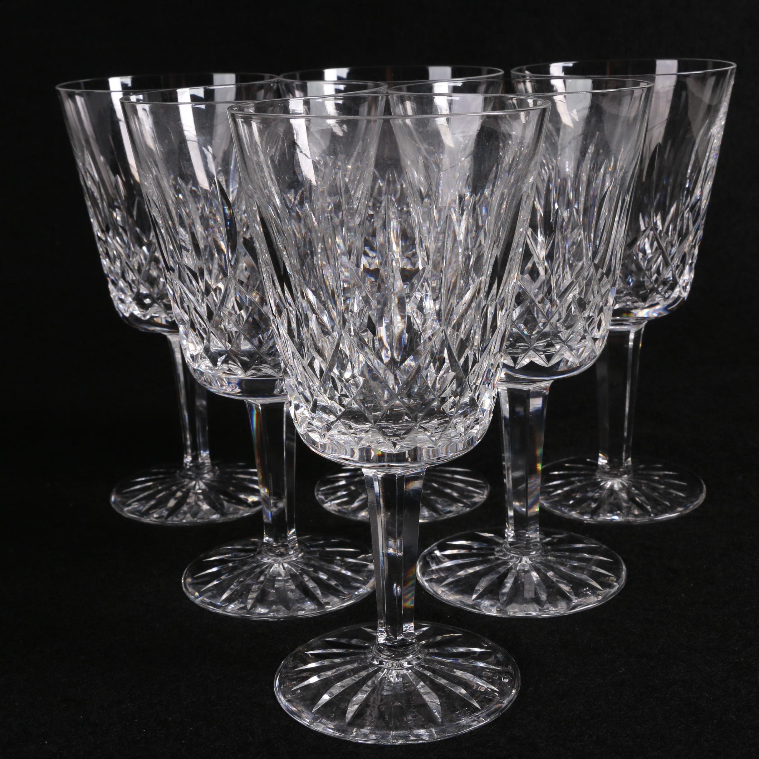 """Waterford Crystal """"Lismore"""" Wine Goblets"""