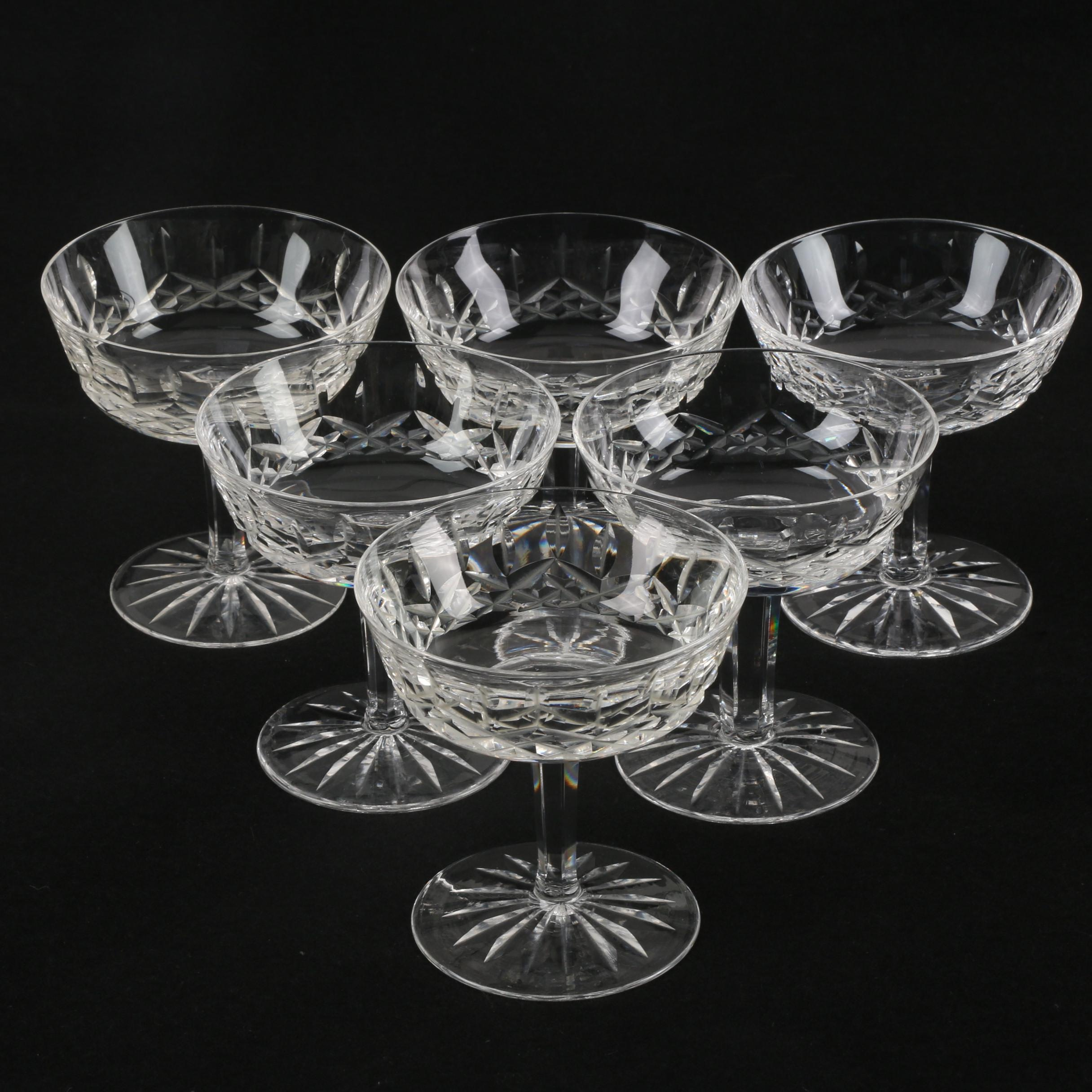 """Waterford Crystal """"Lismore"""" Champagne Coupes"""
