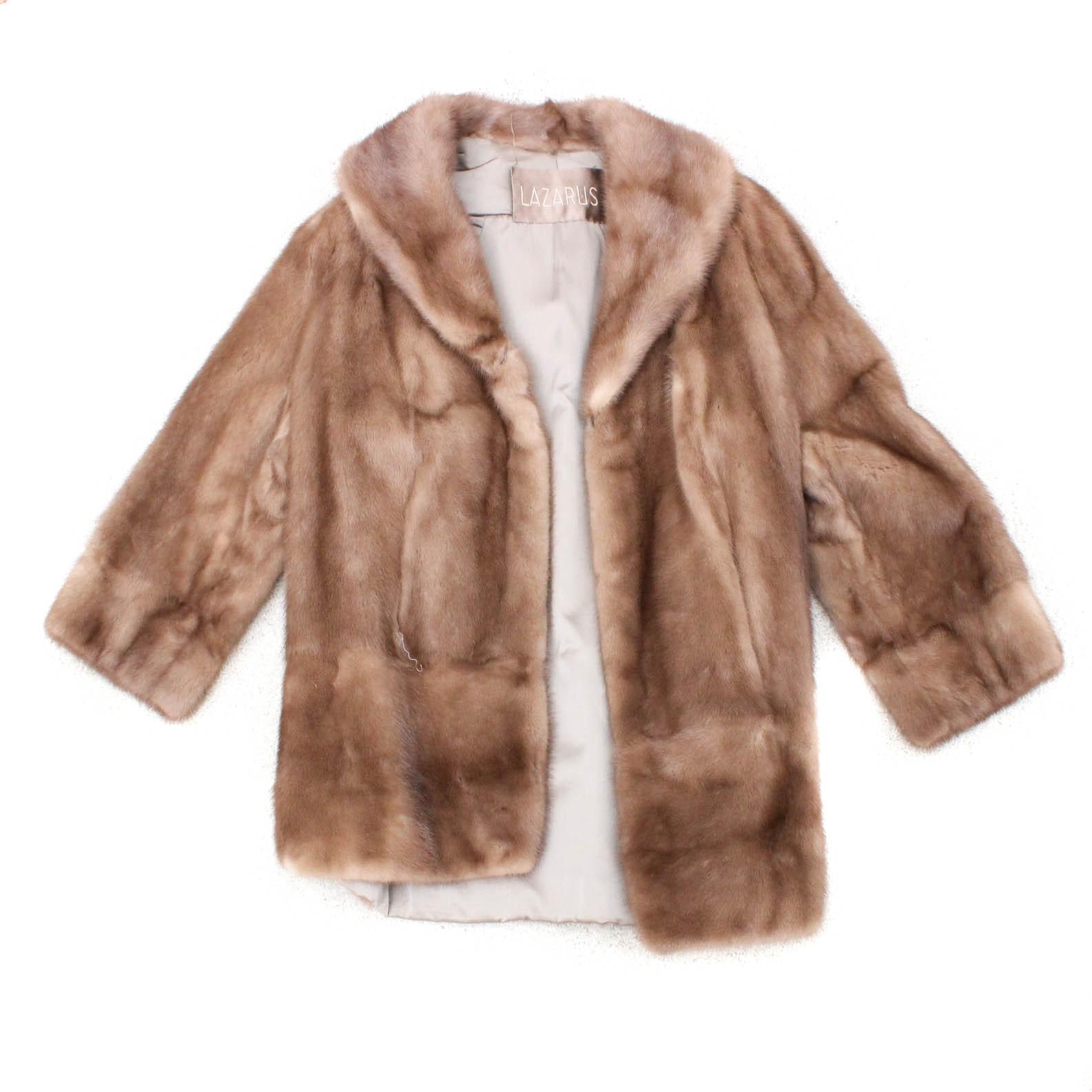 Vintage Lazarus Mink Fur Stroller Coat