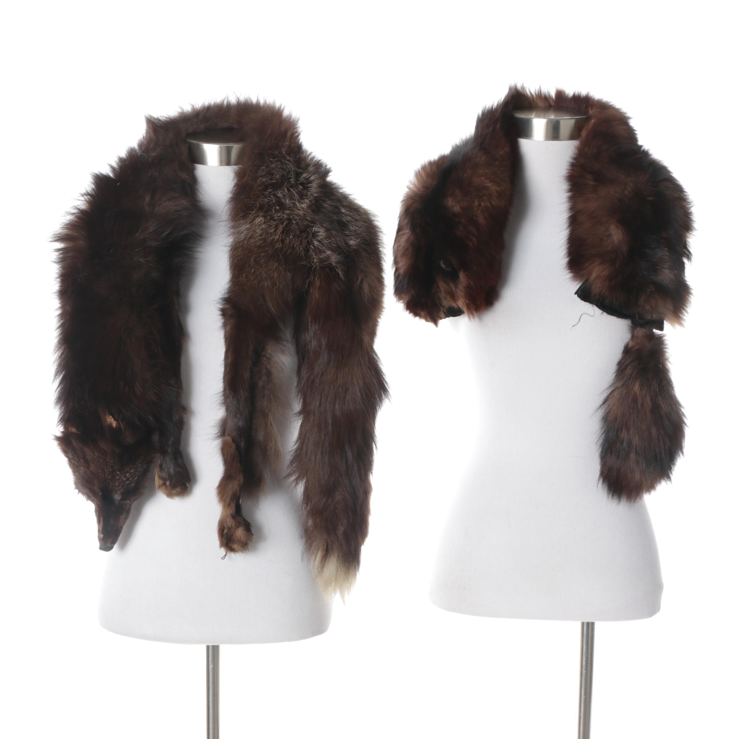 Vintage Fox Pelt Fur Stoles