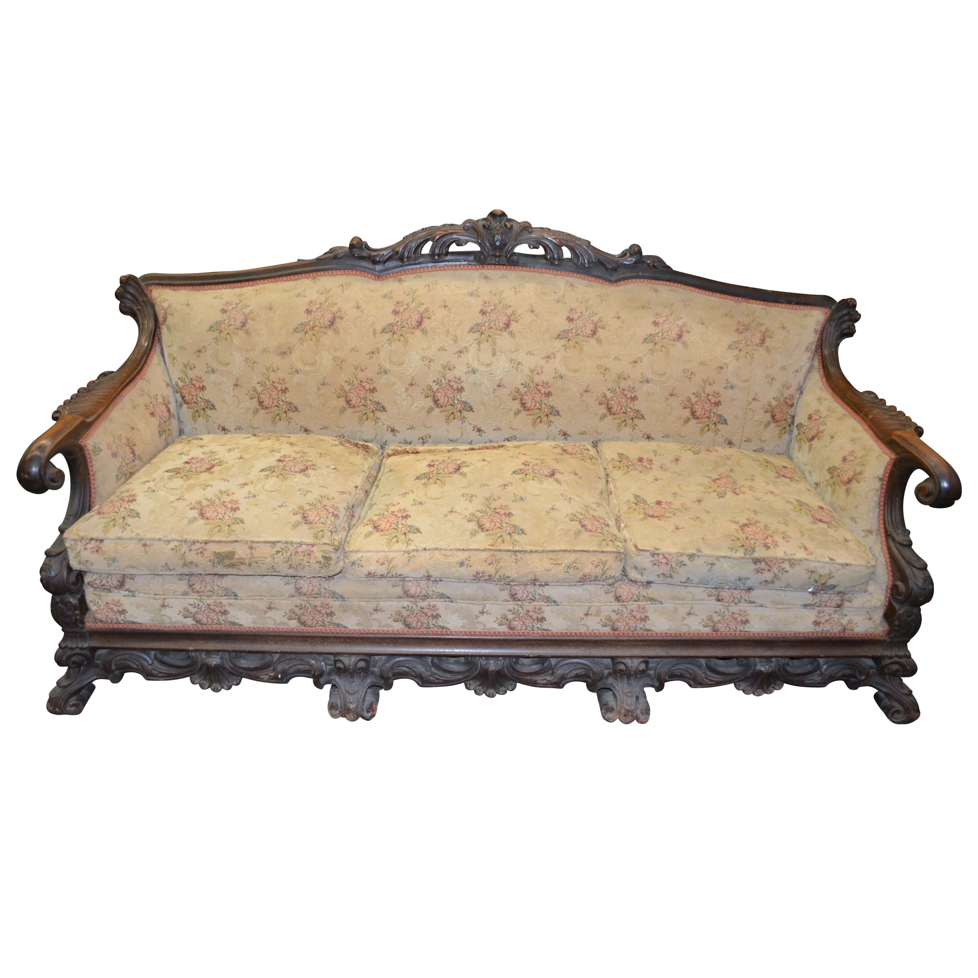 Vintage Baroque Style Sofa