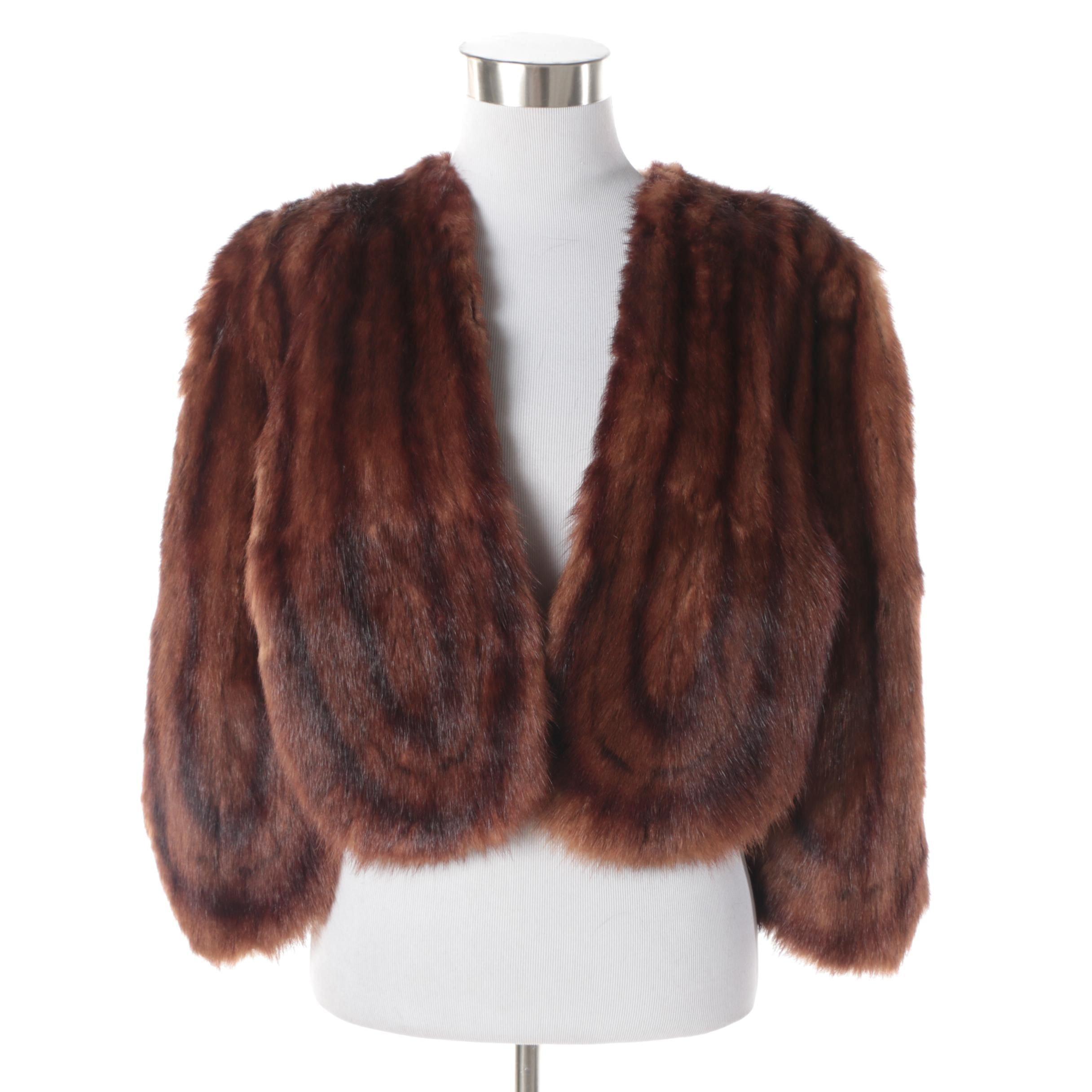 Women's Vintage J. Yendell & Co. Dyed Marmot Fur Stole