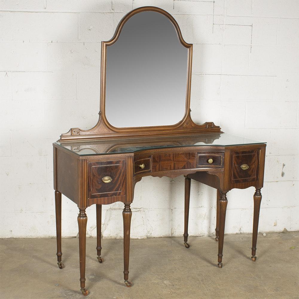 Vintage Hepplewhite Style Mahogany Vanity by The Tobey Furniture Company