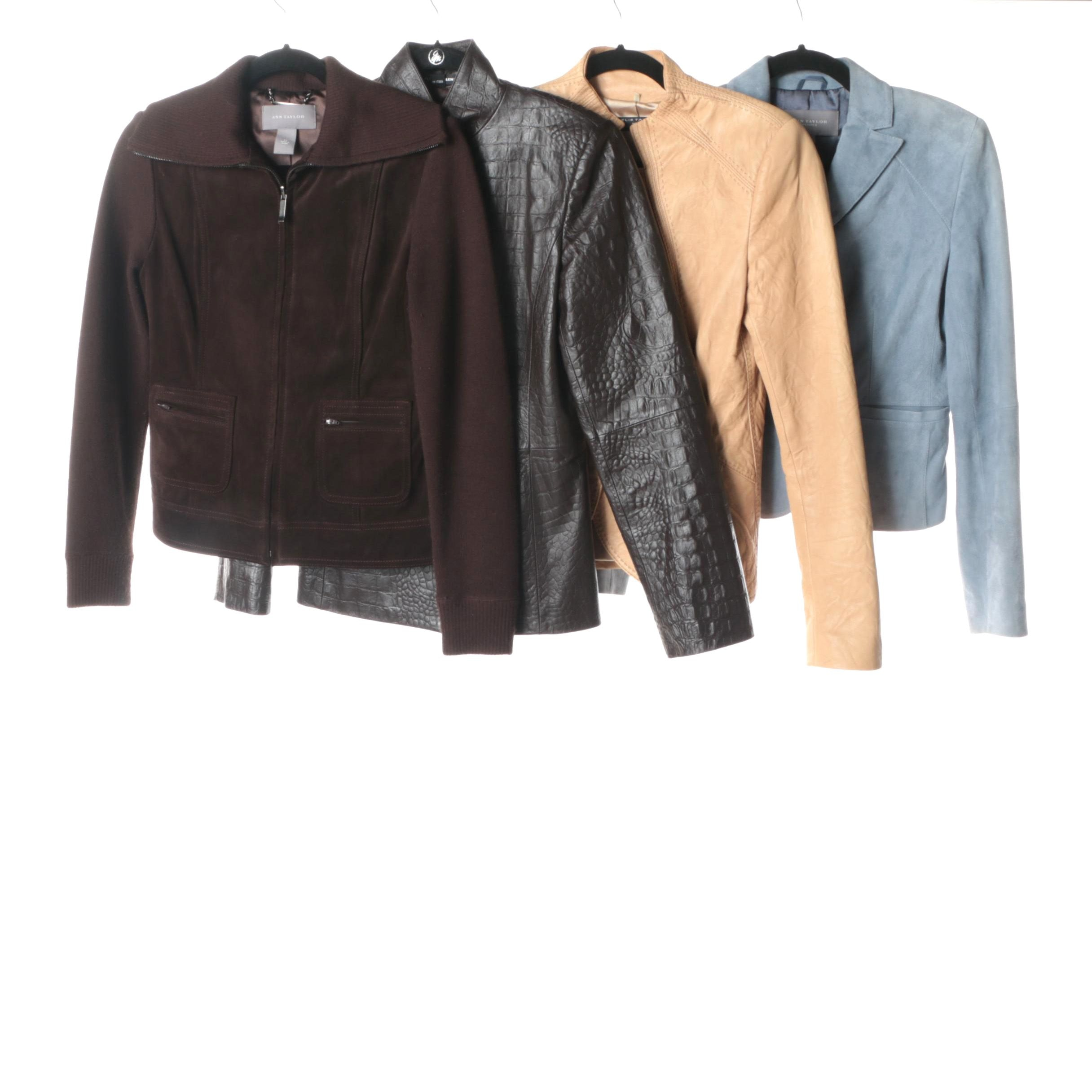 Women's Leather and Suede Jackets Including Elie Tahari