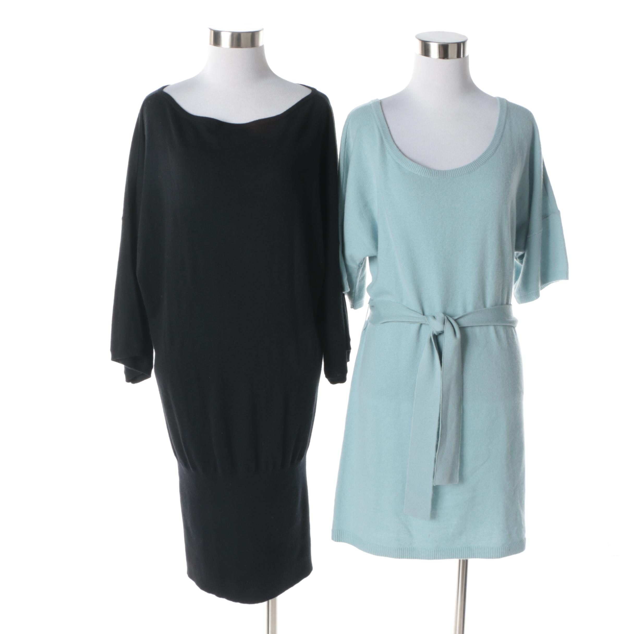 Juicy Couture Wool and Cashmere Blend Knit Sweater Dresses
