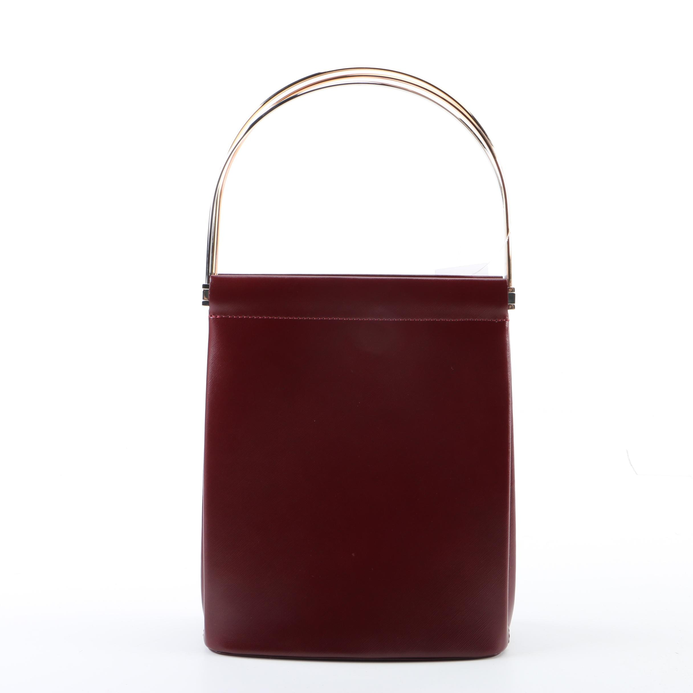 Cartier Oxblood Red Leather Trinity Handbag