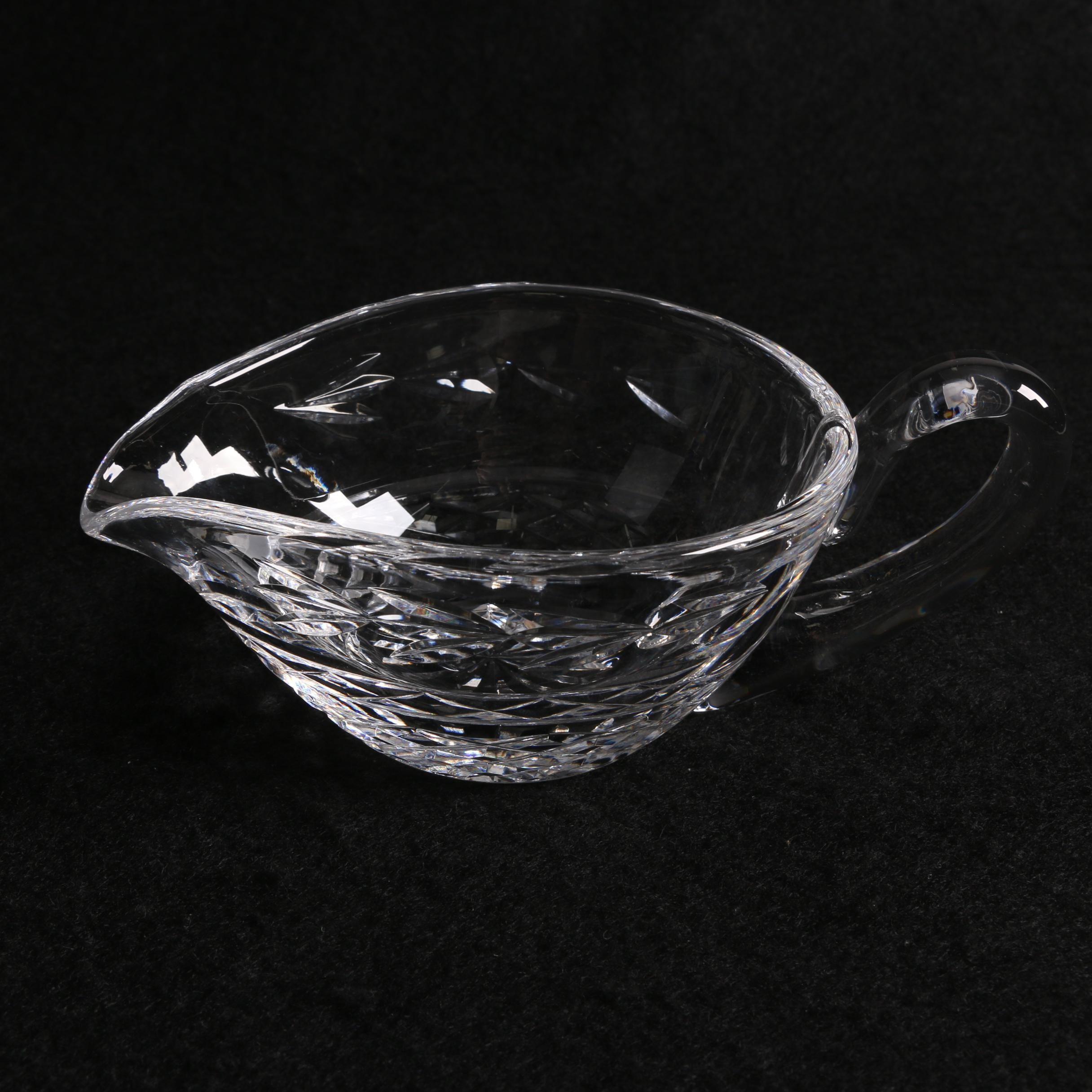 "Waterford Crystal ""Glandore"" Sauce Boat"