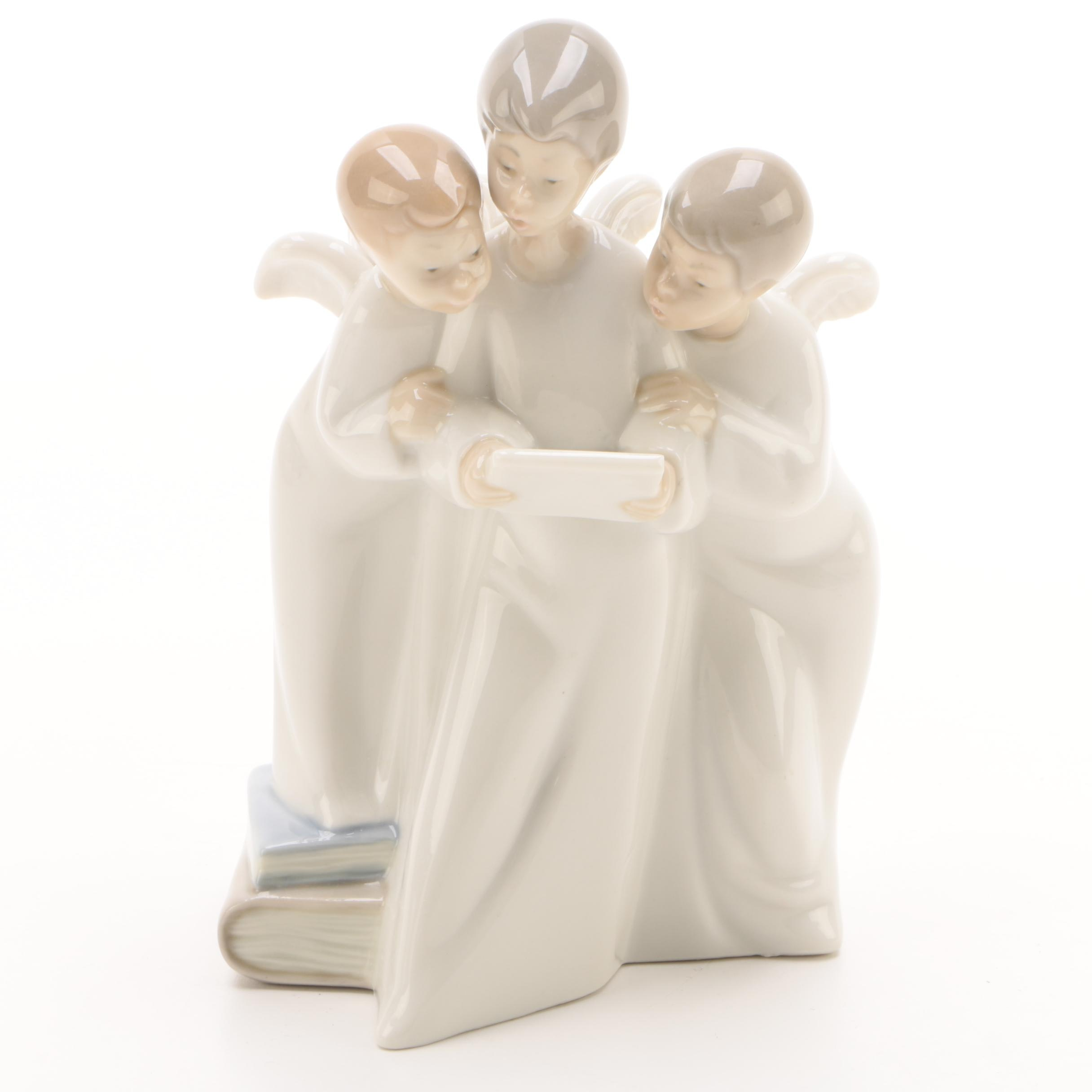 """NAO """"Group of Angels Singing"""" Porcelain Figurine"""