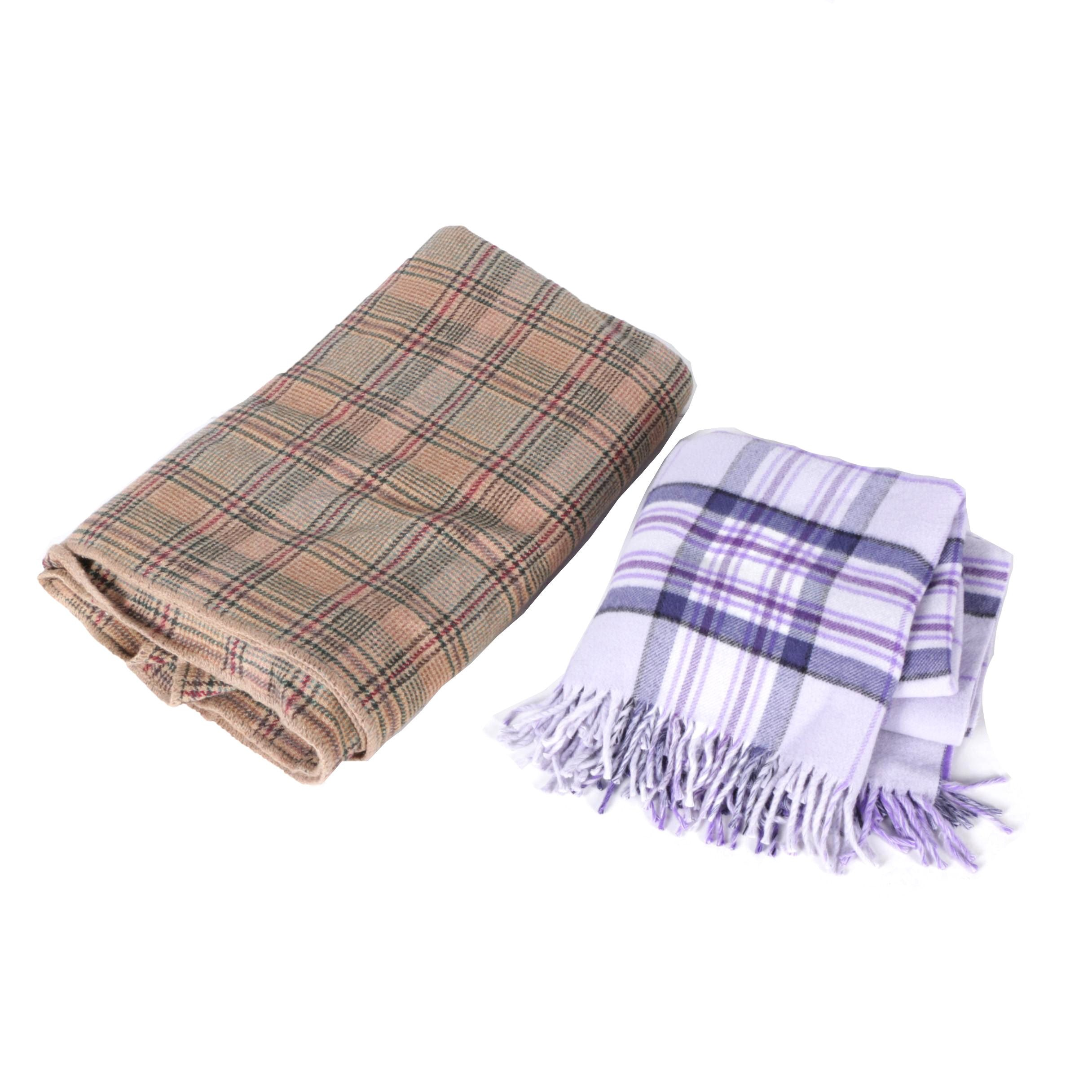Ralph Lauren and Olmetto Plaid Blankets