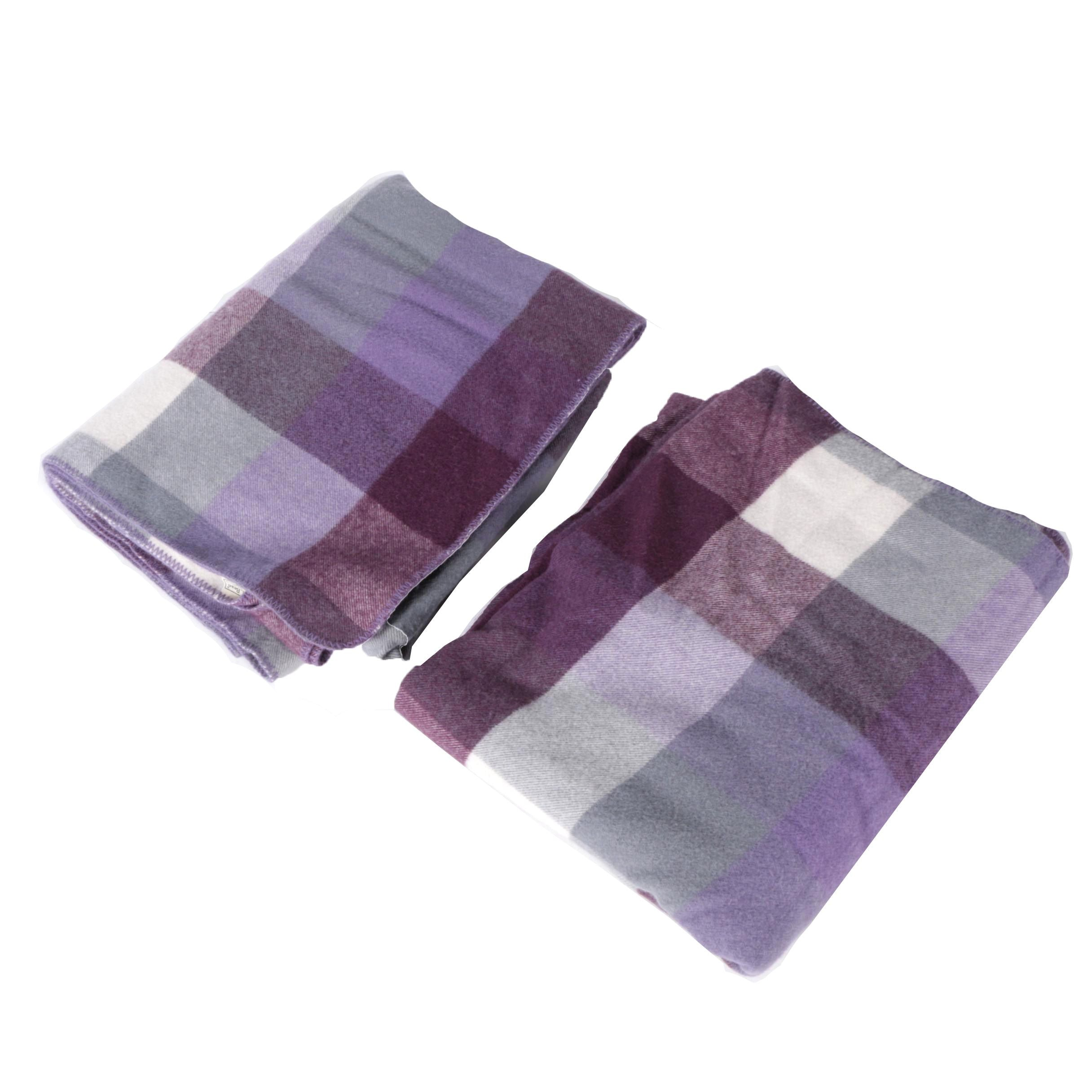 L.L. Bean Twin Size Plaid Wool Blankets
