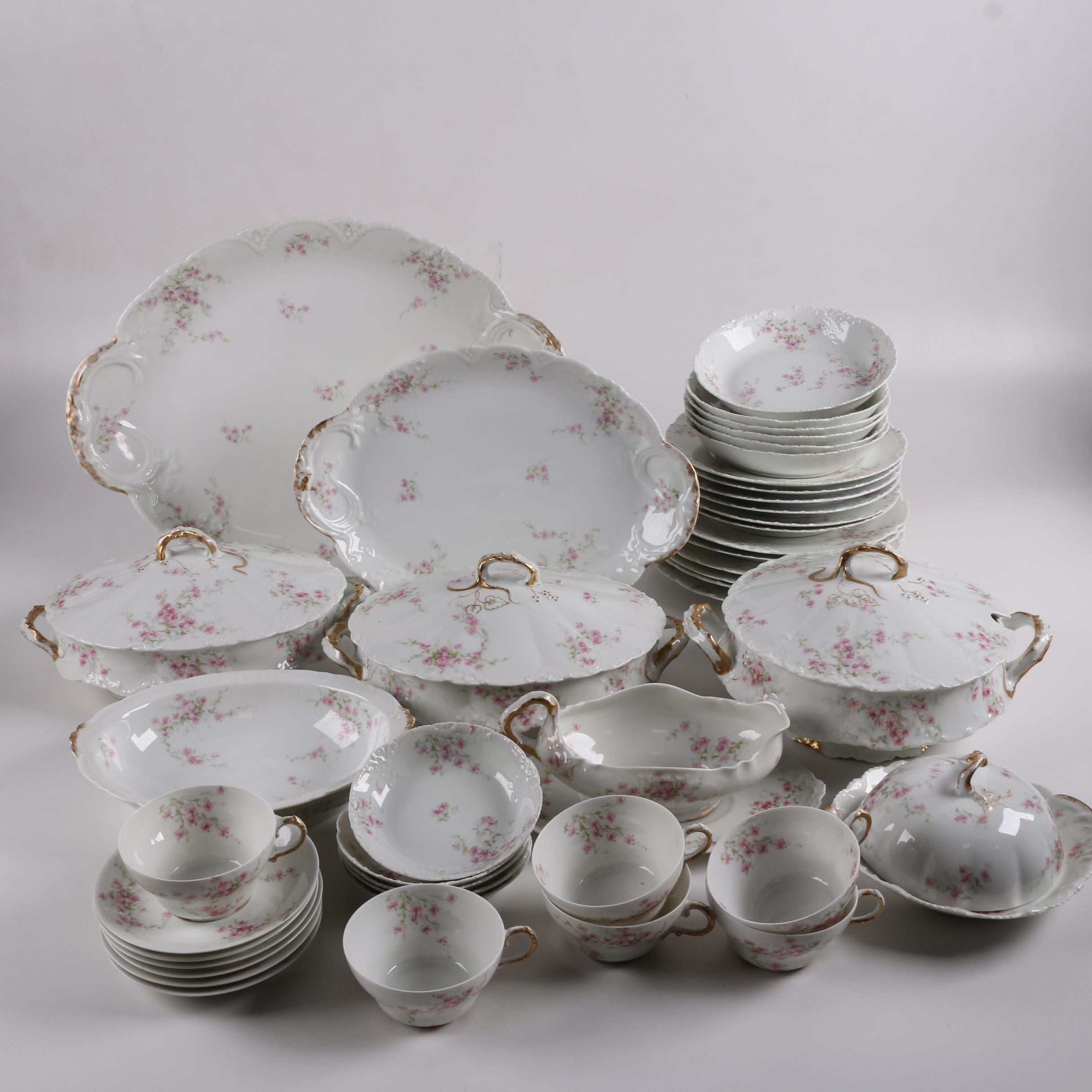 Antique Theodore Haviland Limoges Porcelain Dinnerware ca. 1895