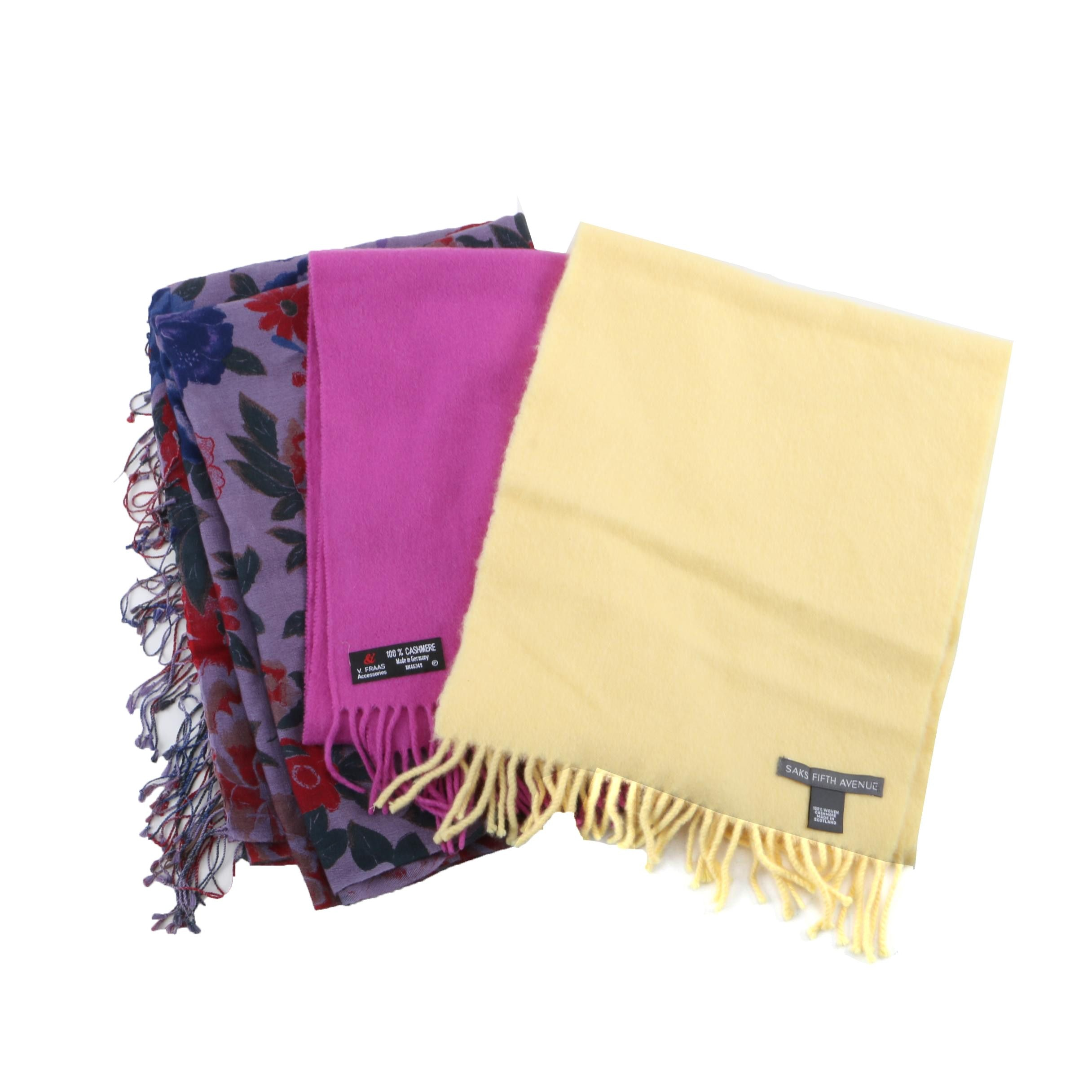 Yarnz Shawl and V. Fraas Cashmere Scarves