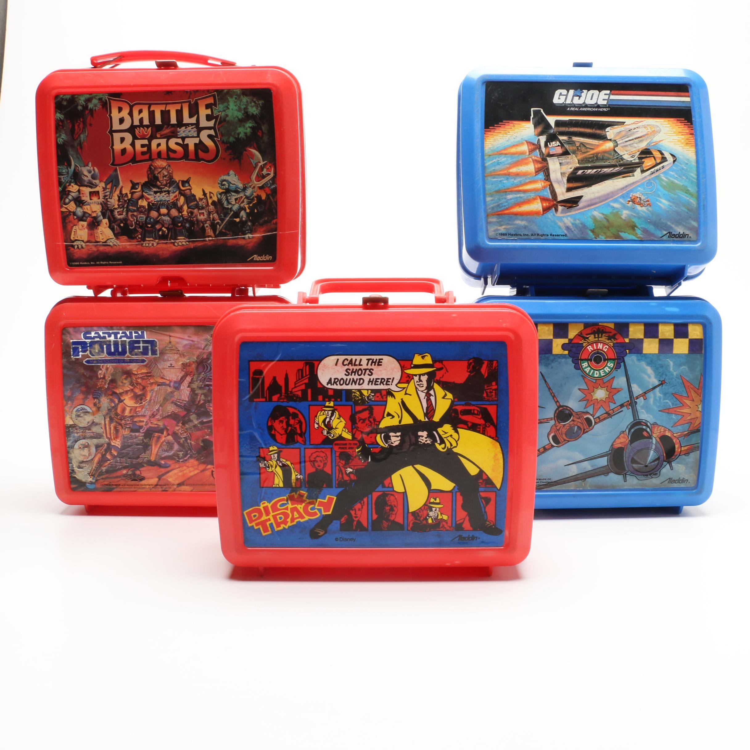 Vintage School Lunchboxes Featuring Dick Tracy