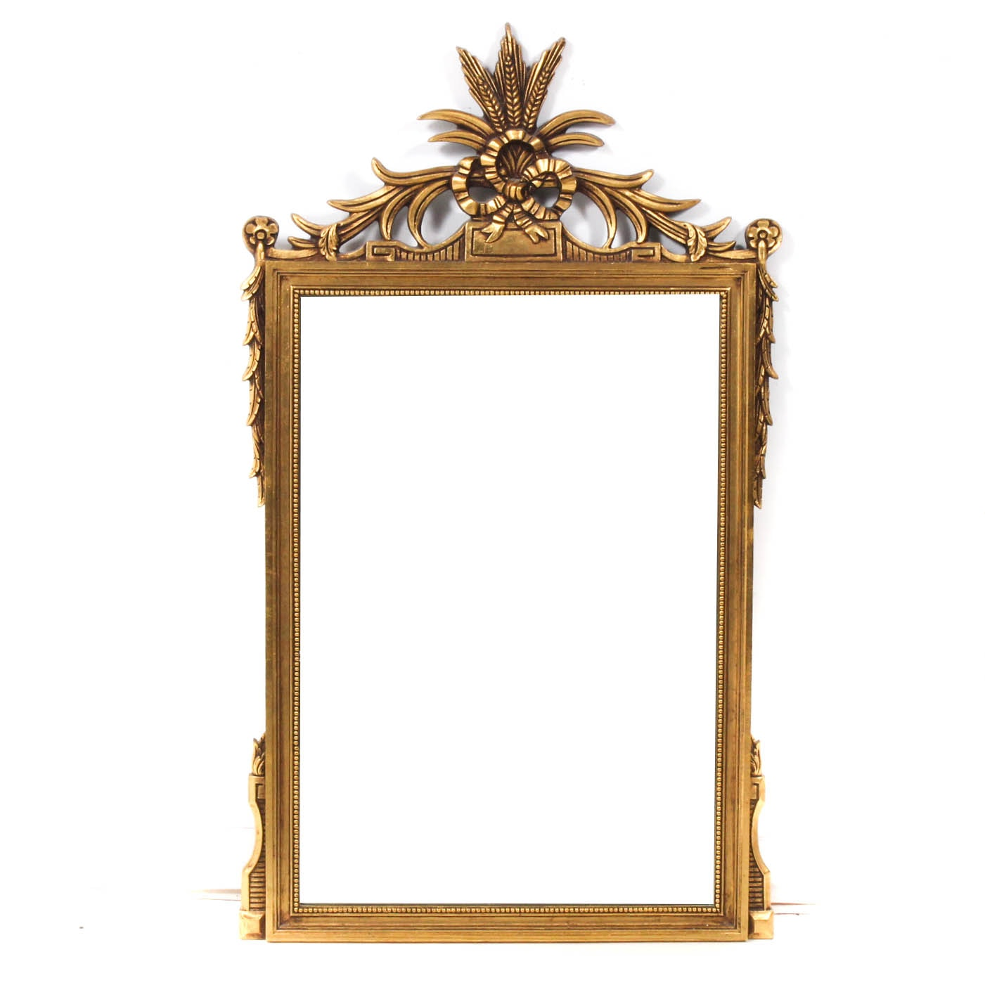 Vintage Regency Style Gilt Wood Framed Wall Mirror