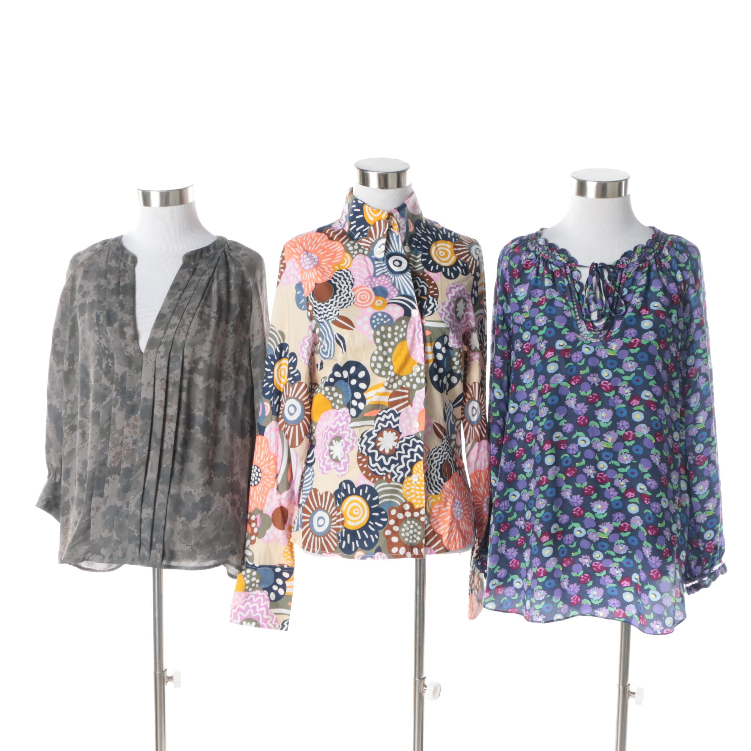 Women's Rebecca Taylor, Joie and Oilily Patterned Blouses