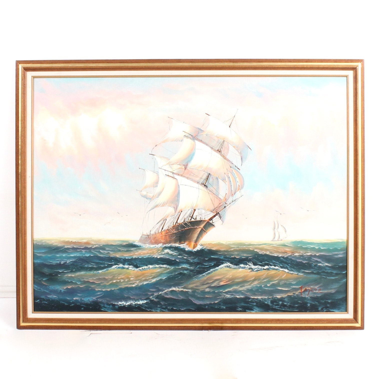 Taylor Large Scale Oil Seascape Painting on Canvas