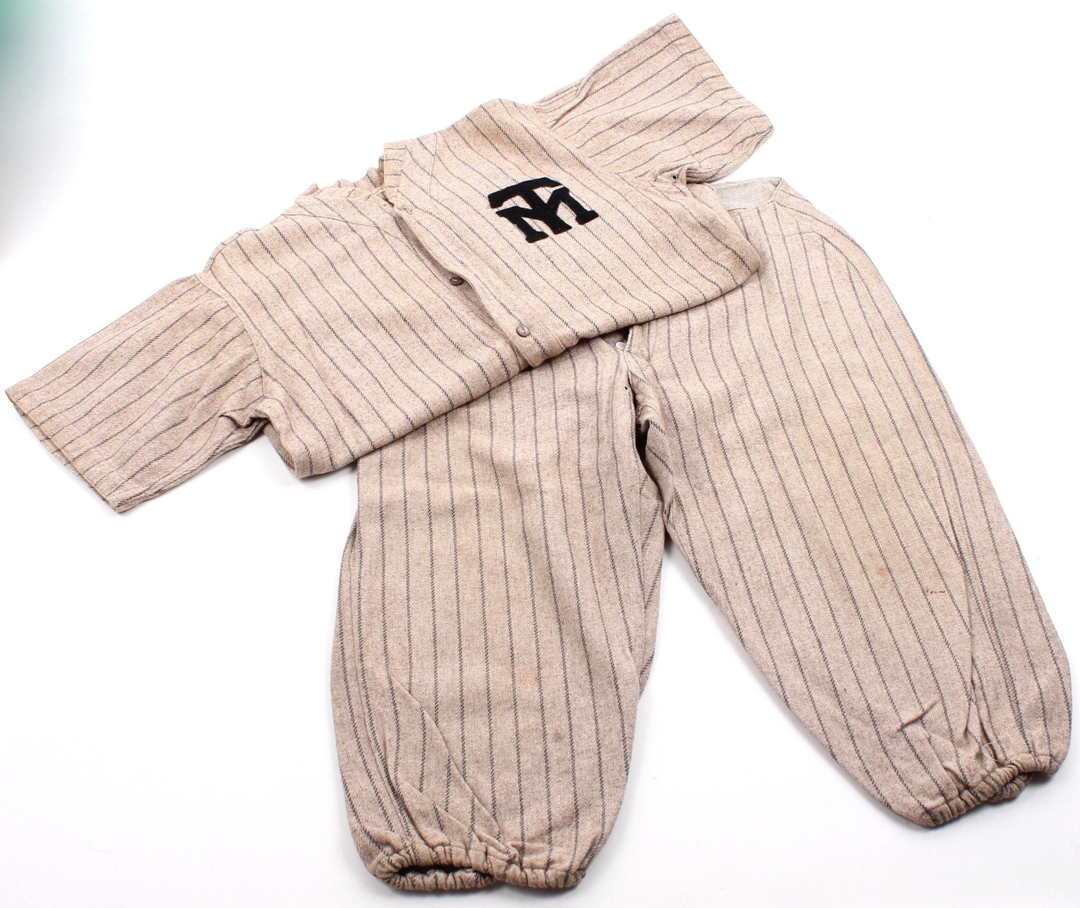 "Vintage 1930s Wool ""Mendel the Tailor"" Baseball Uniform"