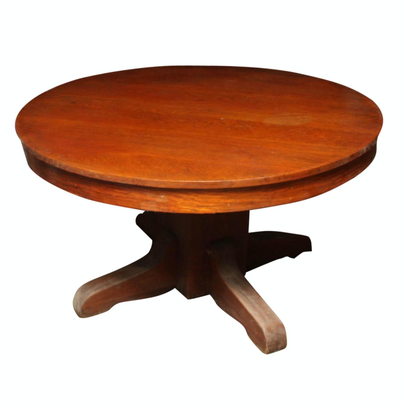 Quarter Sawn Oak Dining Table