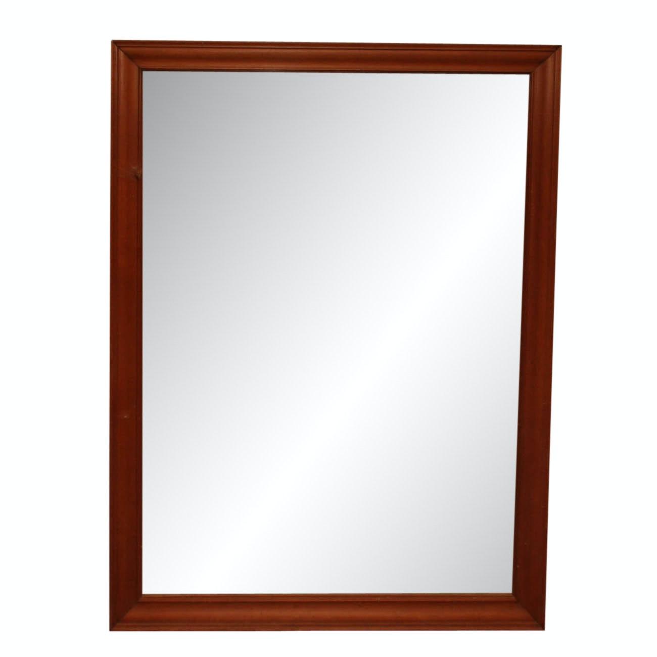 Framed Wooden Glass Mirror