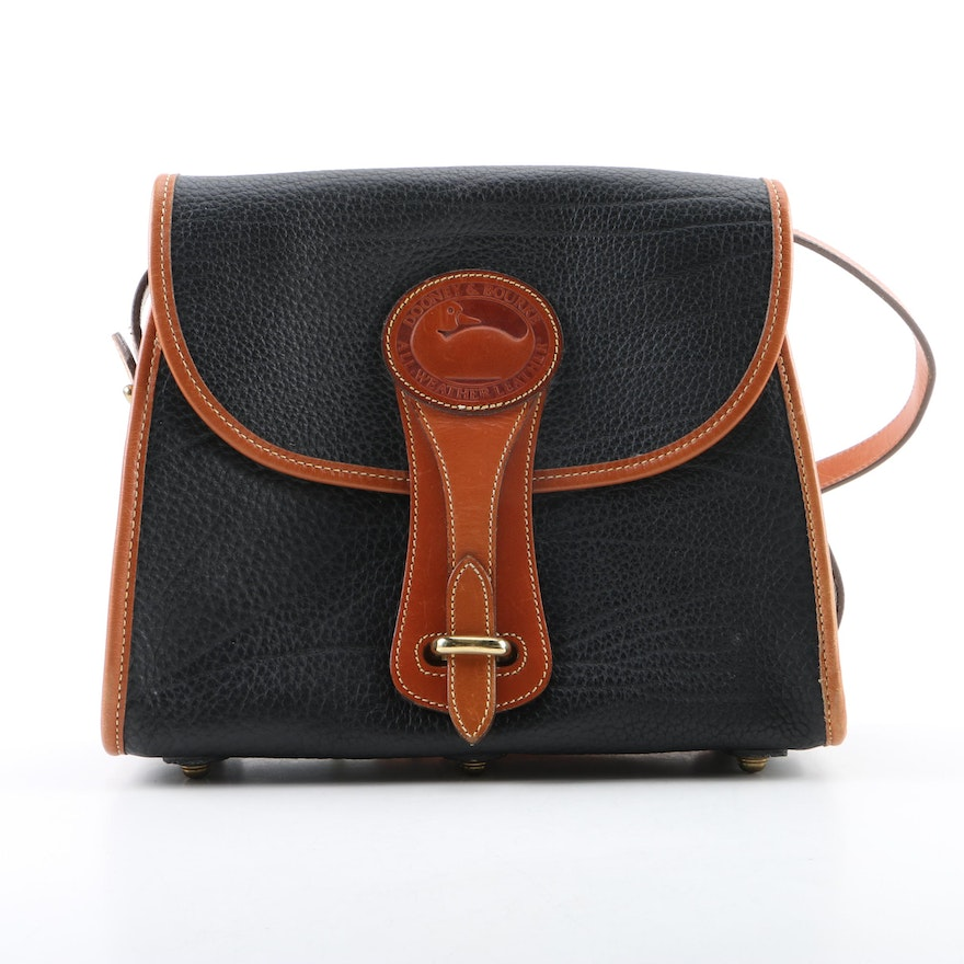 a9c7da2ca8af Dooney   Bourke Black All-Weather Leather Crossbody Bag   EBTH