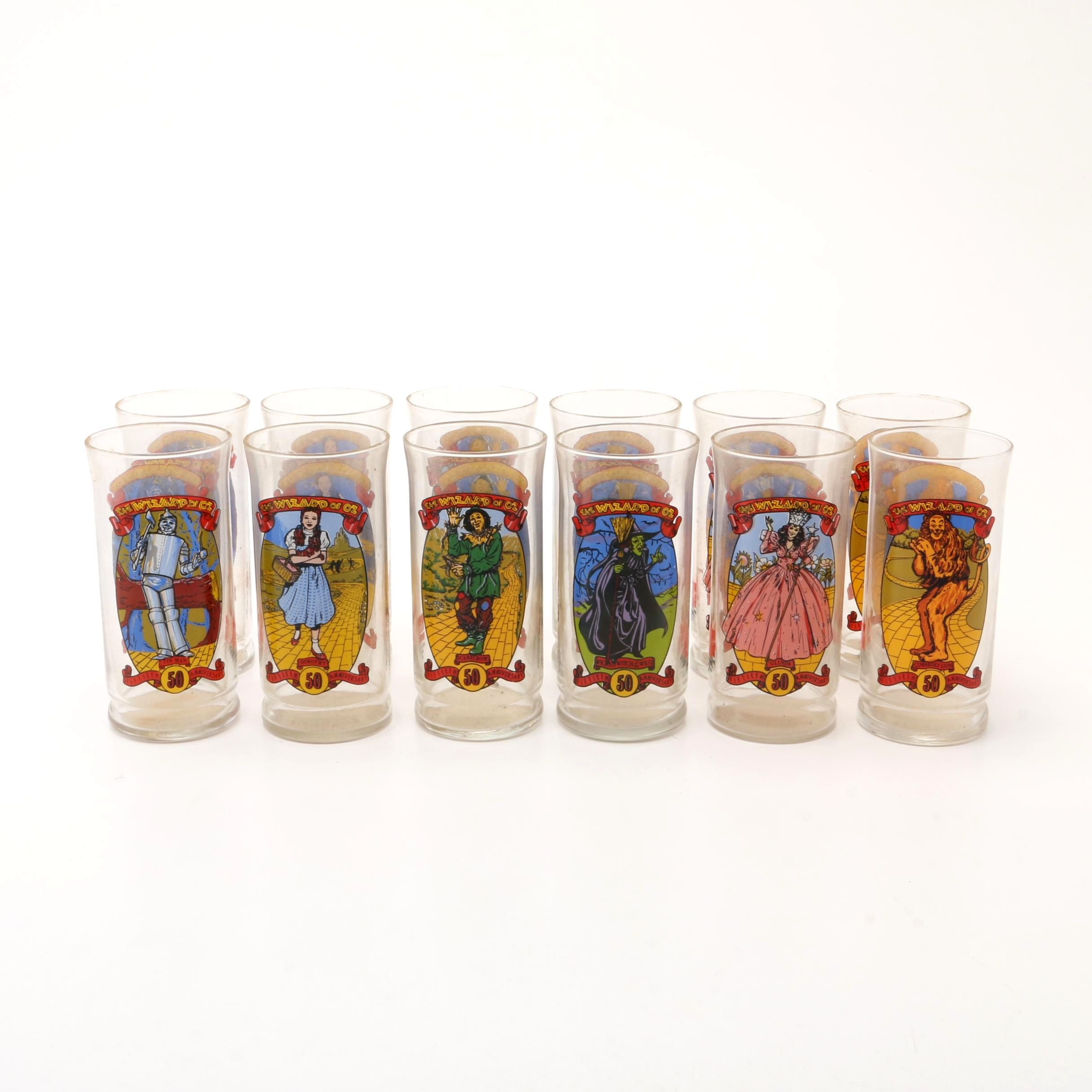 """1989 Coca-Cola """"Wizard of Oz"""" Collector's Series Drinking Glasses"""