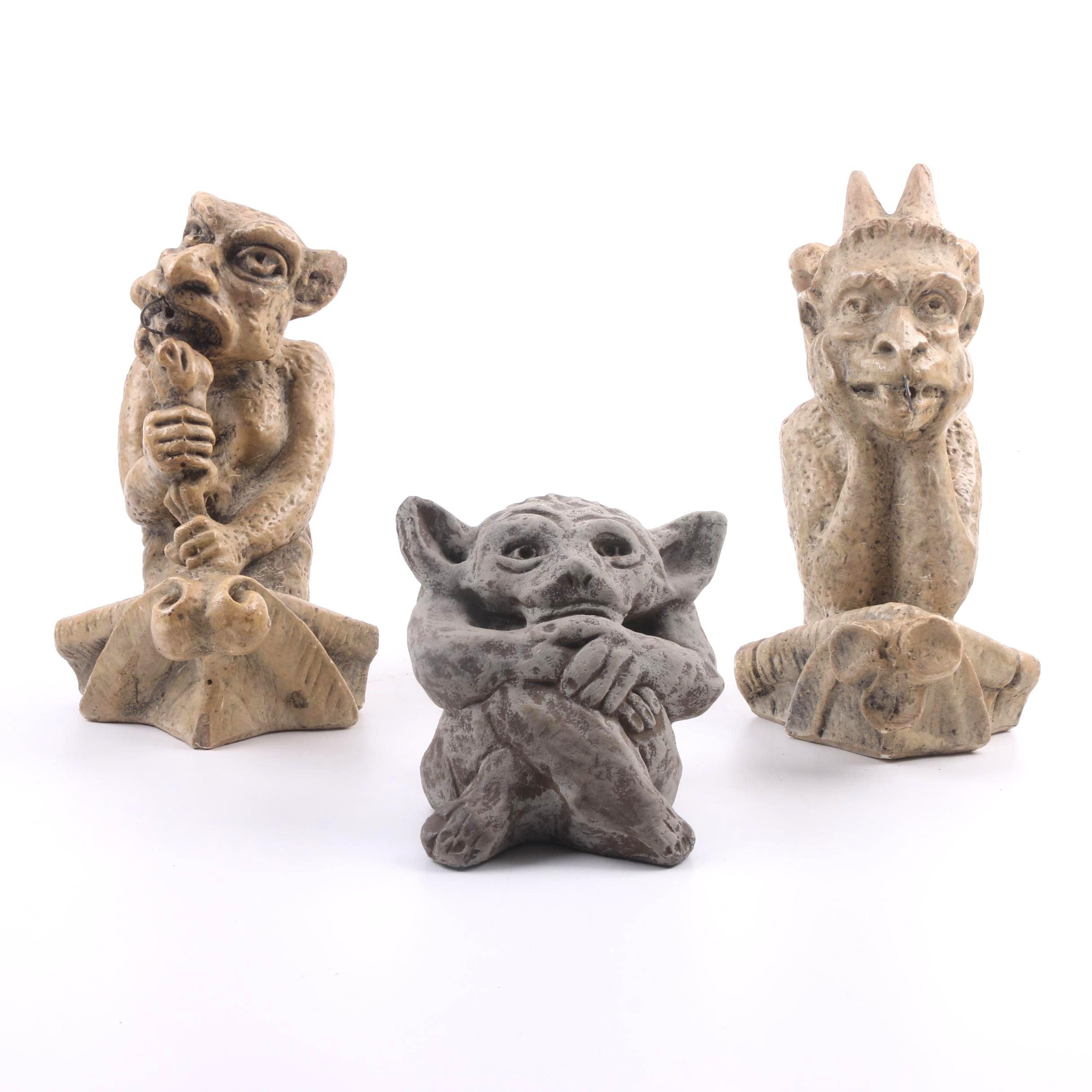 Cast Ceramic Gargoyles, Replicas of Those at Notre Dame