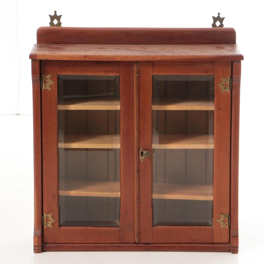 Vintage Cherry Hanging Display Cabinet ... - Vintage Cherry Hanging Display Cabinet : EBTH