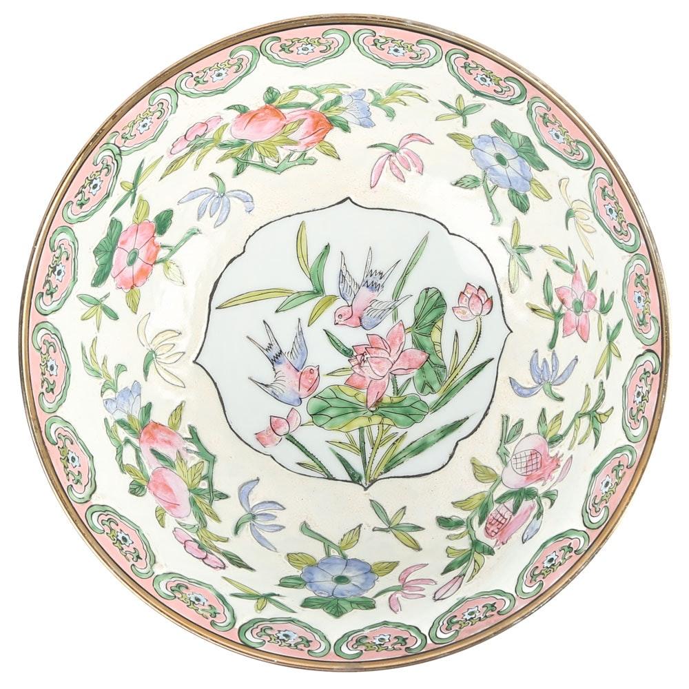 Chinese Ceramic Plum Blossom Centerpiece Bowl
