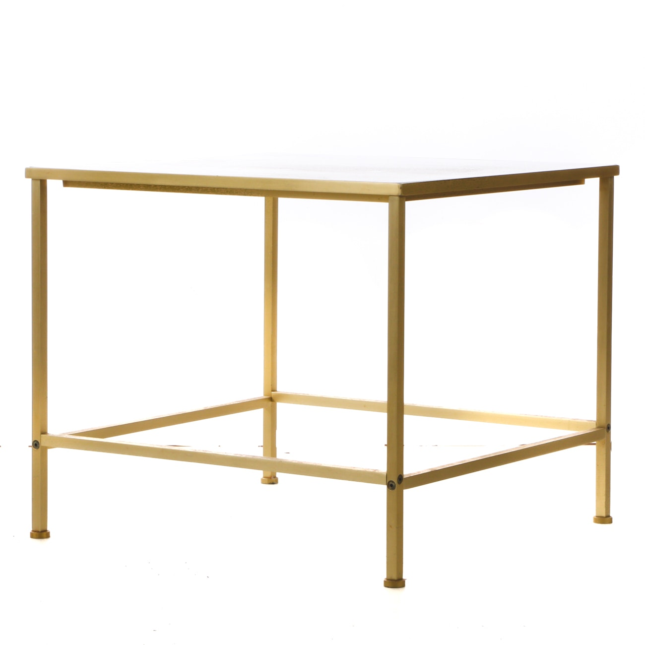 Brass-Tone Framed Occasional Table