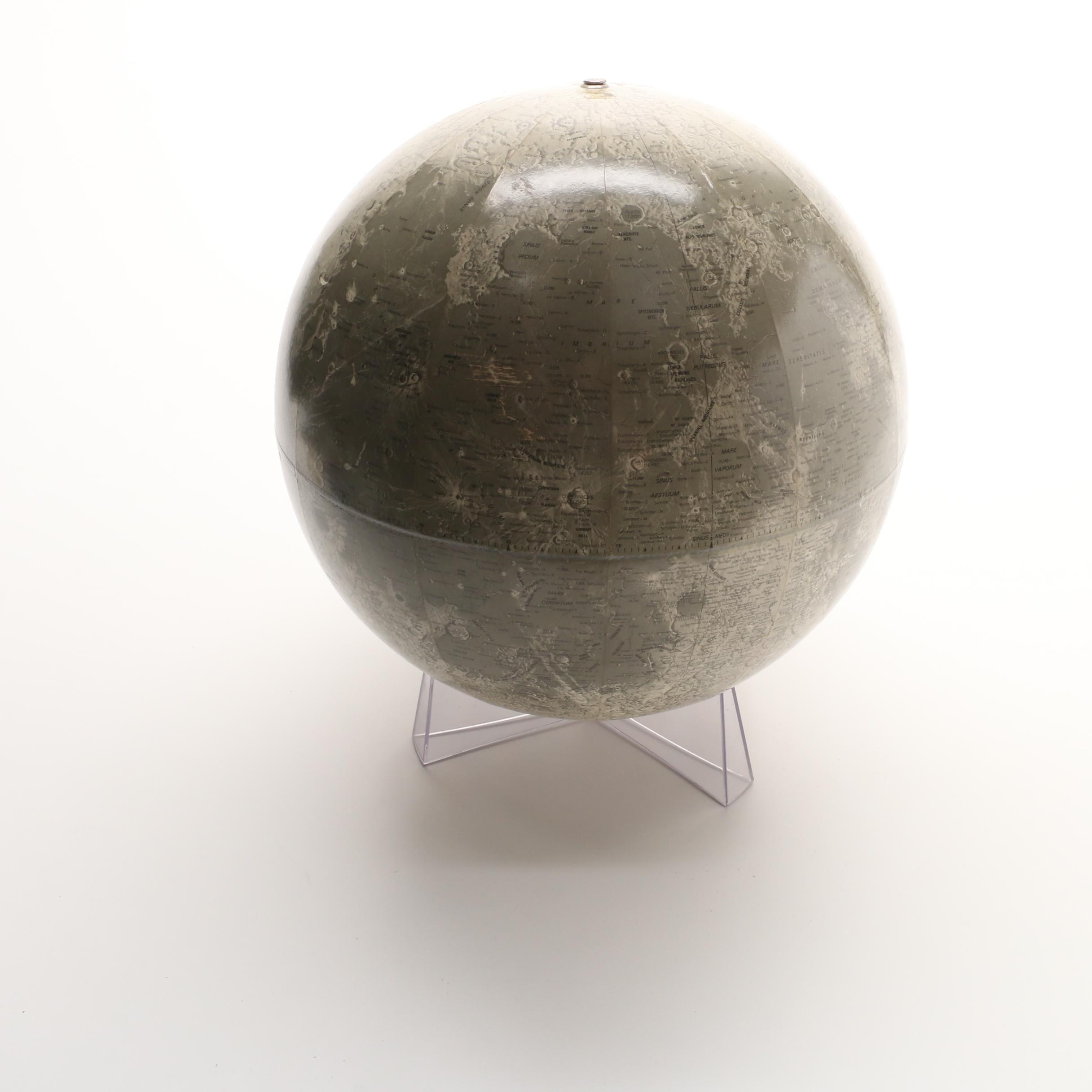 Rand McNally Twelve Inch Lunar Globe With Clear Stand