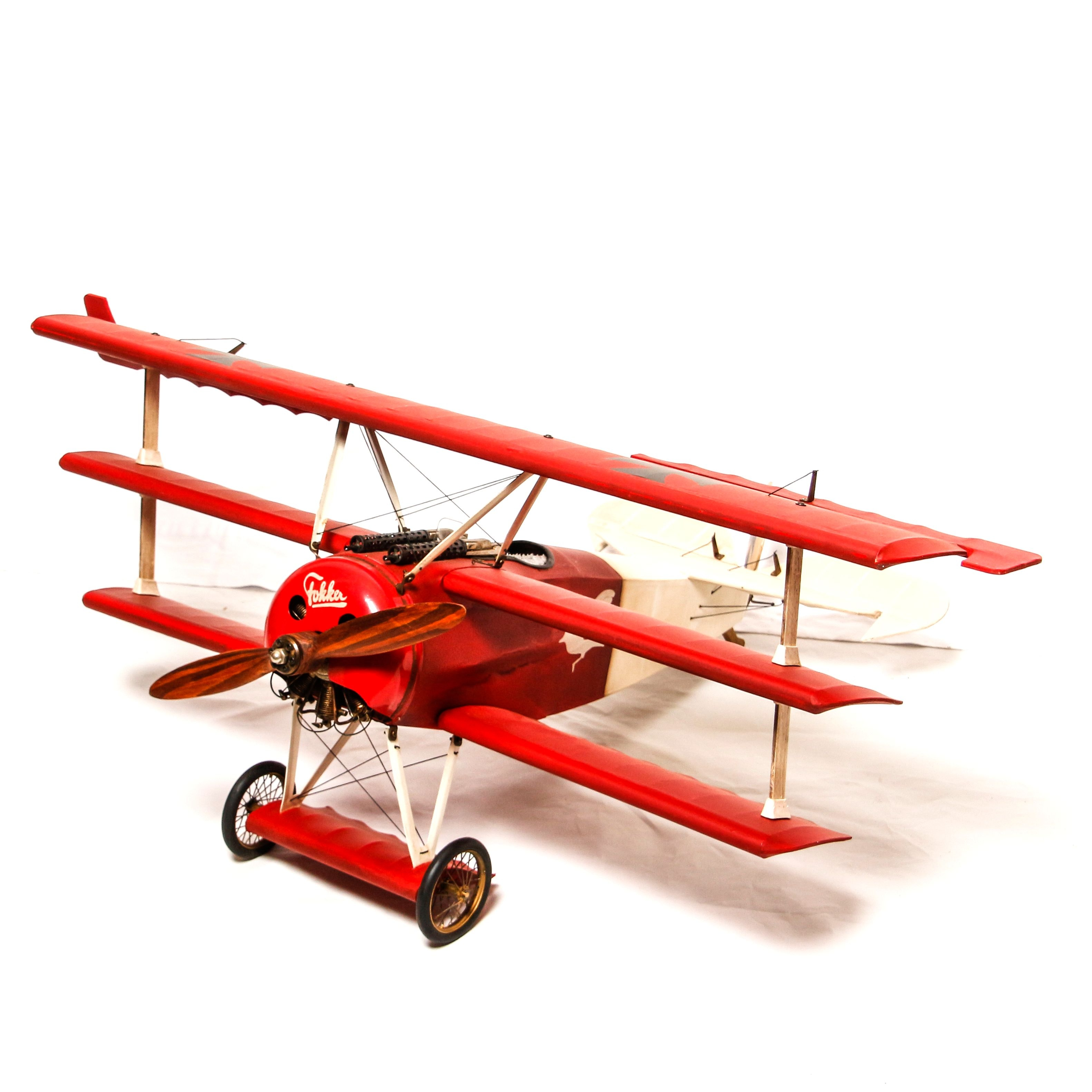 Motorized Red Baron Triplane Replica