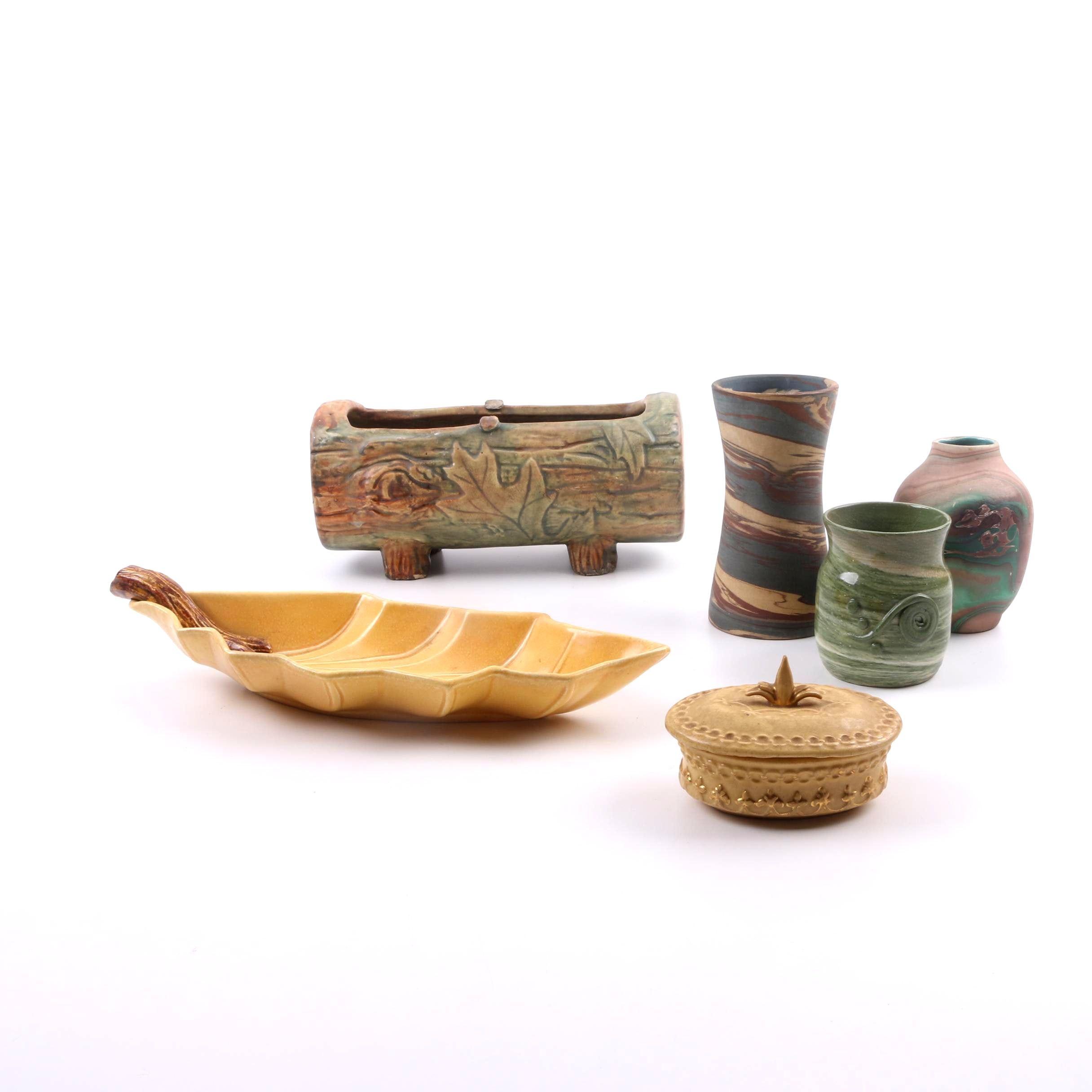 Weller, Niloak, Miramar and Bennie Pottery Pieces