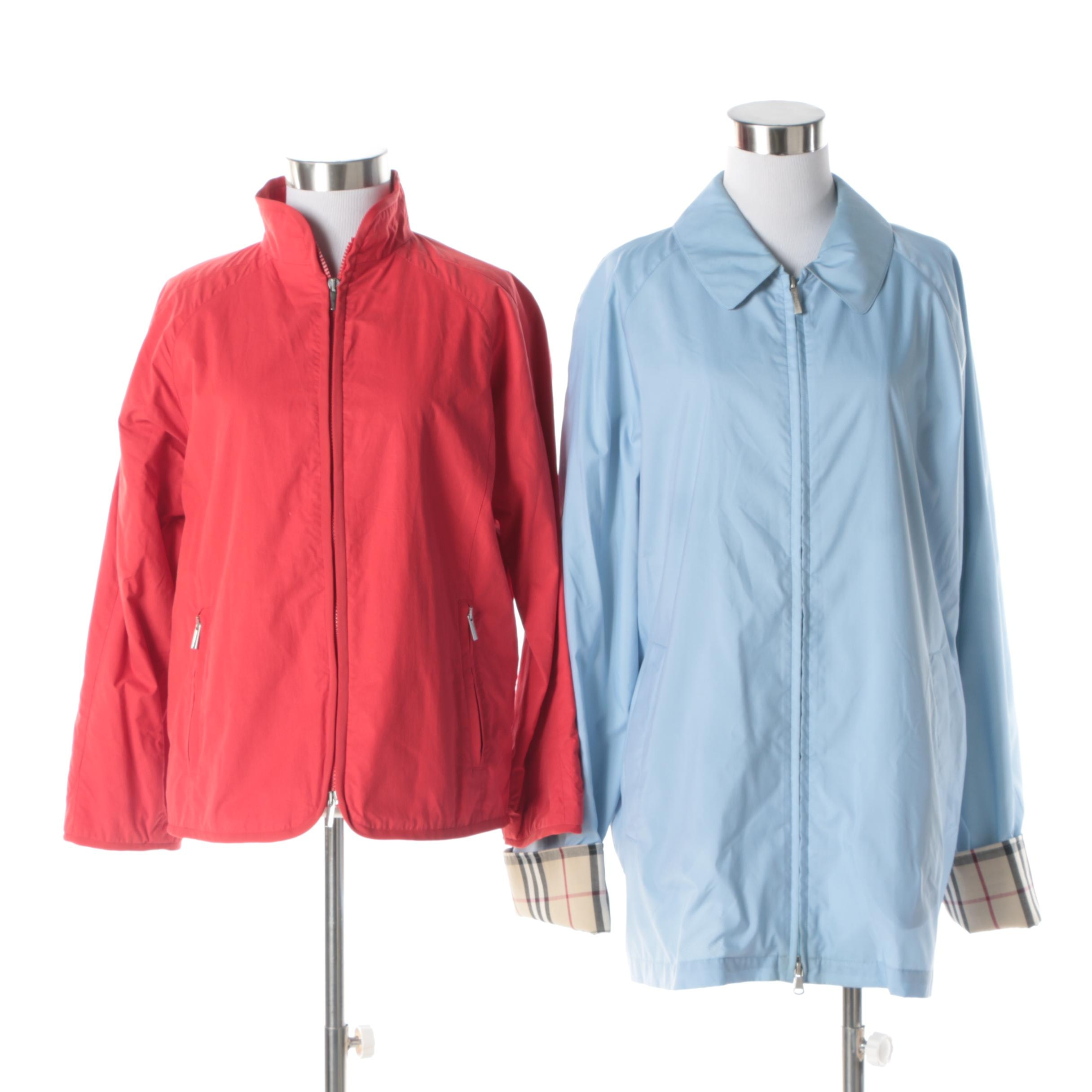 Women's Giorgio Armani and Burberry Rain Jackets