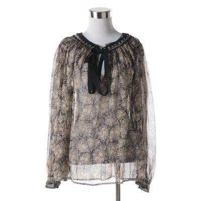 6fb7f96986825 Women s 3.1 Philip Lim Floral Print Silk Blouse with Rhinestones