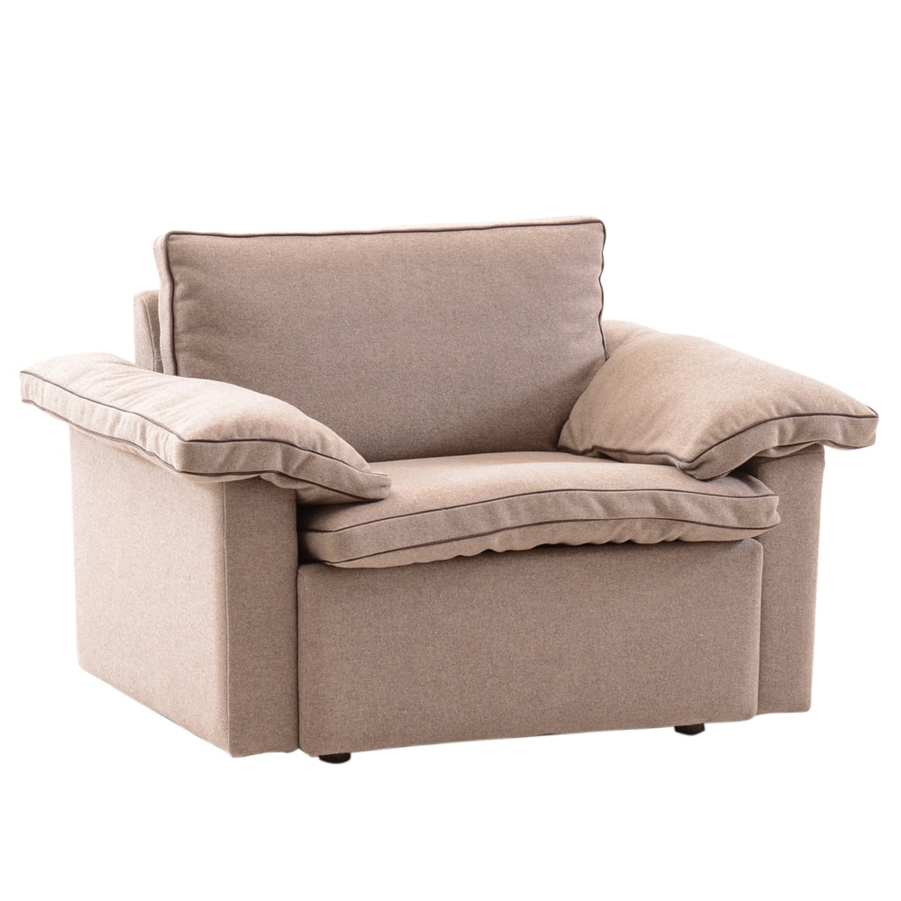 Brayton International Brown Wool Lounge Chair