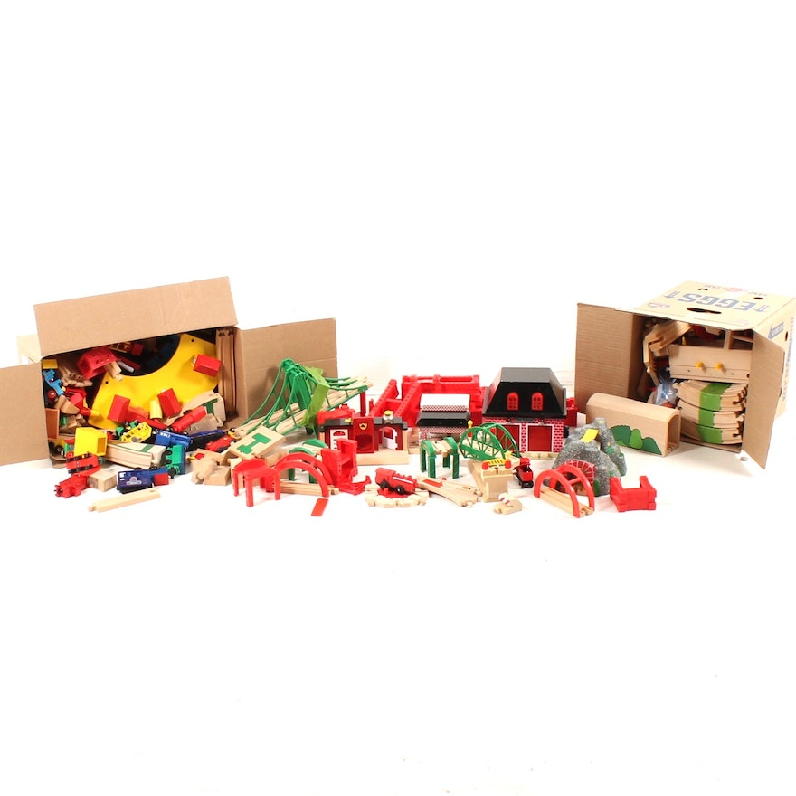 Brio Wooden Train Set Tracks And Accessories